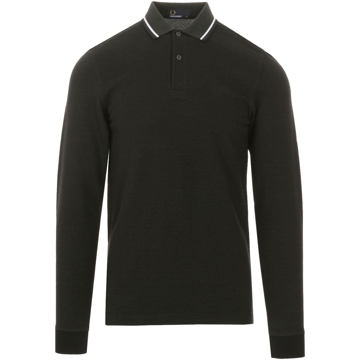 FRED PERRY Men's Long Sleeve Twin Tipped Polo HG
