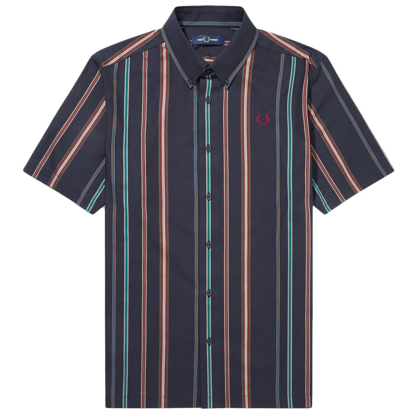 FRED PERRY M8563 Mod SS Stripe Button Down Shirt