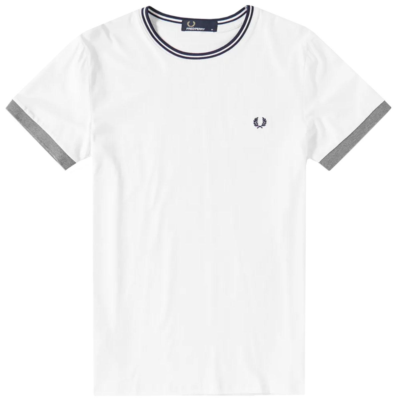 FRED PERRY Contrast Cuff Twin Tipped Ringer Tee W