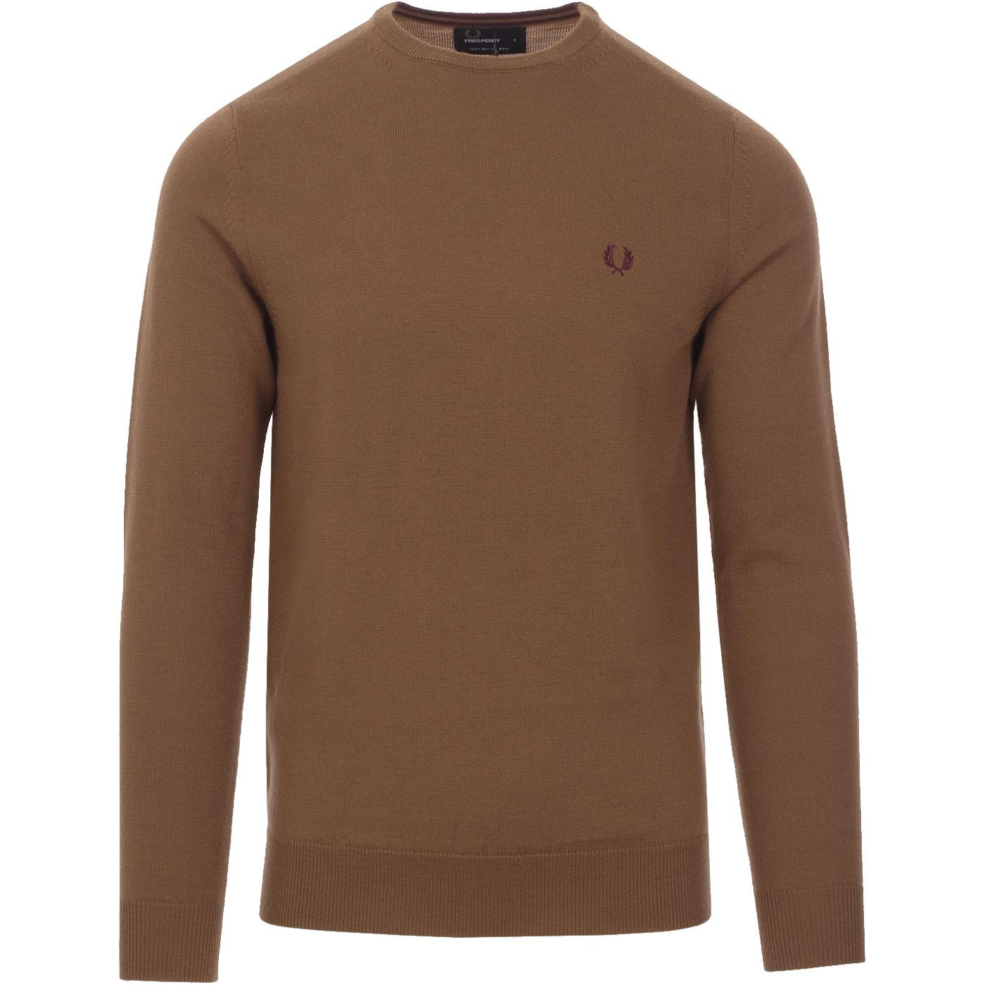 FRED PERRY Merino Wool Knitted Crew Neck Jumper DC