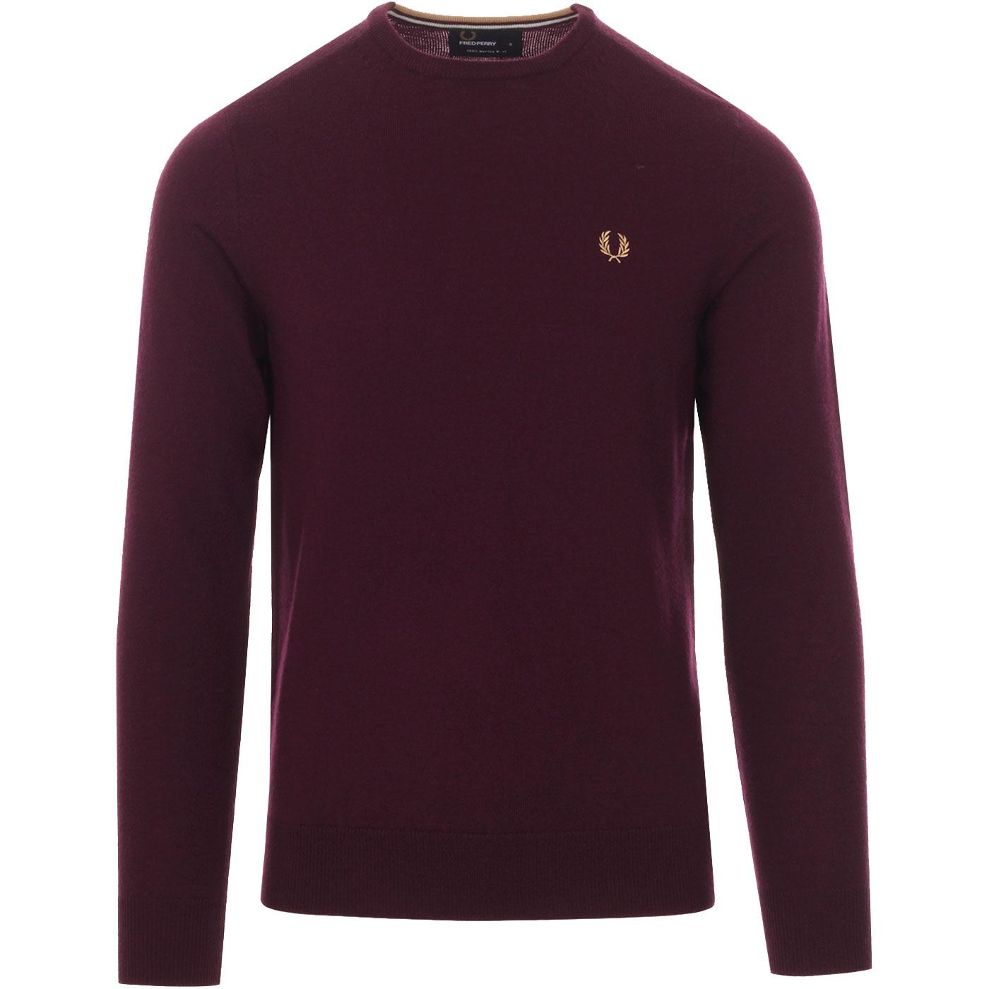 FRED PERRY Men's Mod Knitted Merino Wool Jumper M