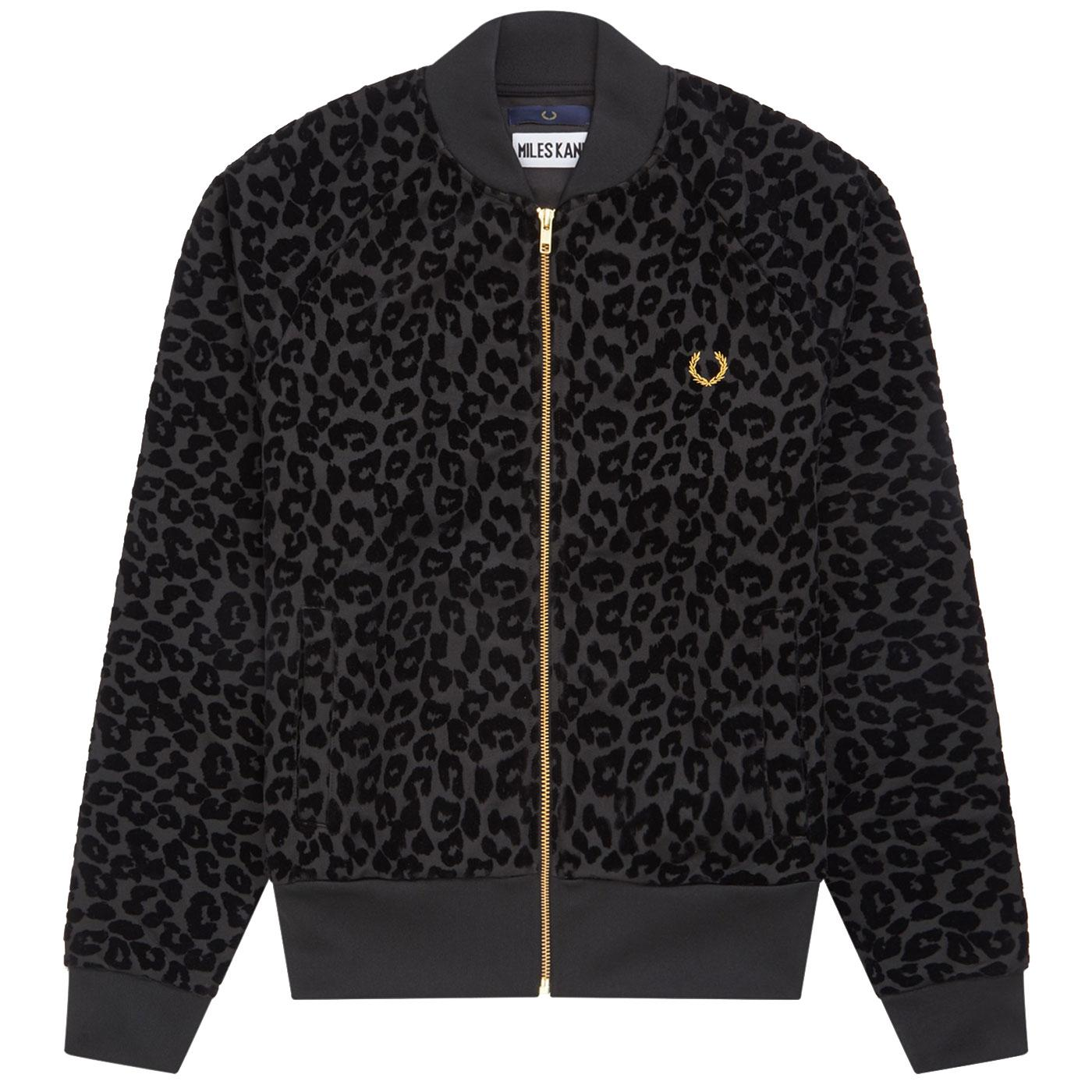 FRED PERRY X MILES KANE Leopard Print Track Jacket