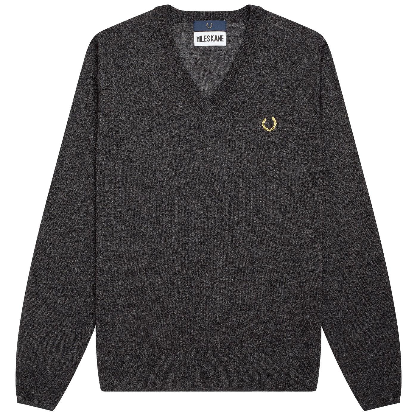 FRED PERRY X MILES KANE Mod Metallic V-Neck Jumper