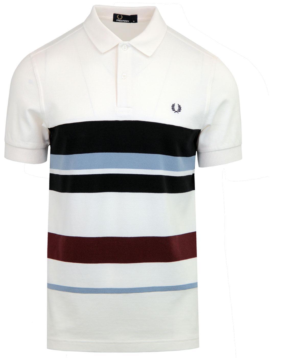 FRED PERRY Men's Mod Multi Stripe Pique Polo