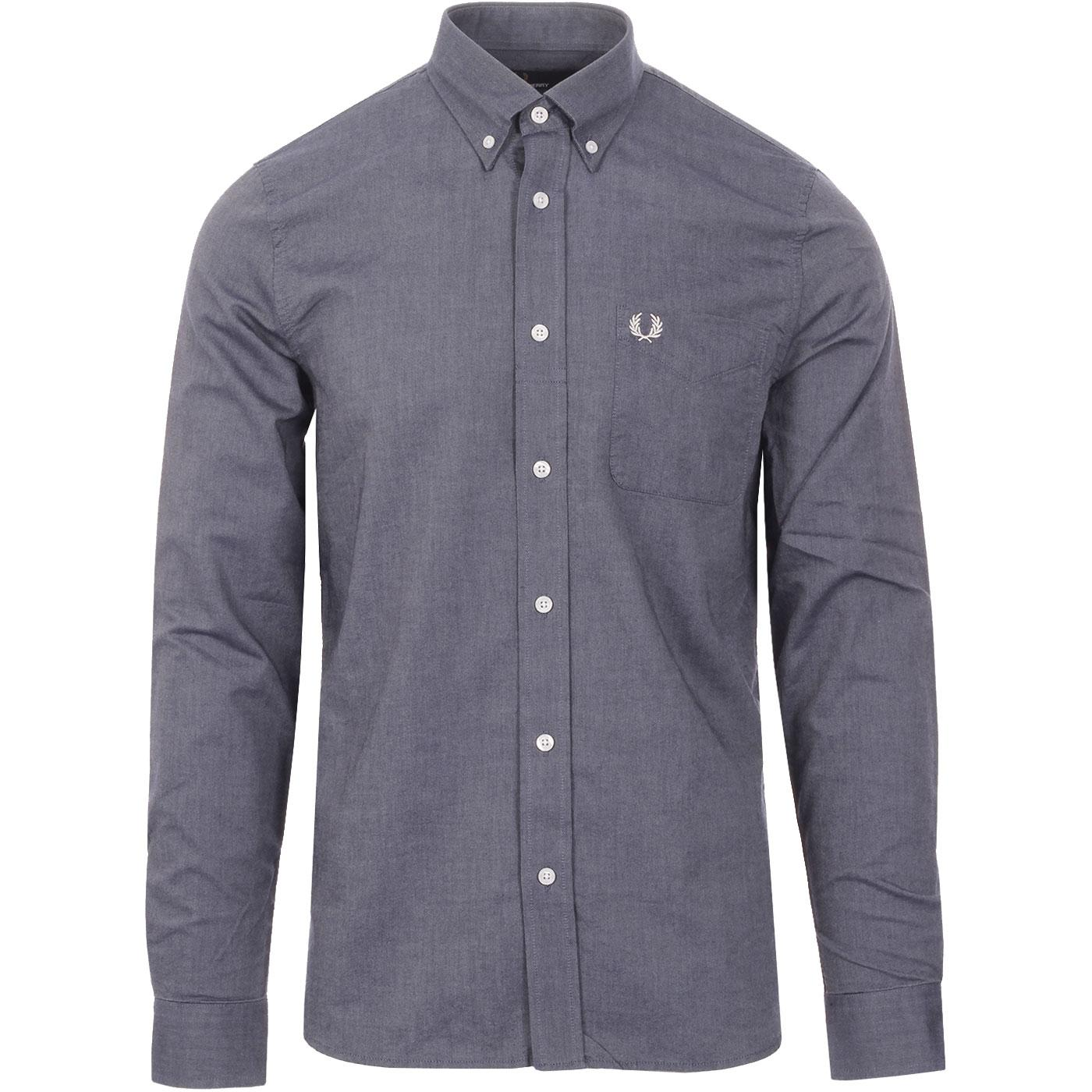 FRED PERRY Classic Mod Button Down Oxford Shirt DC
