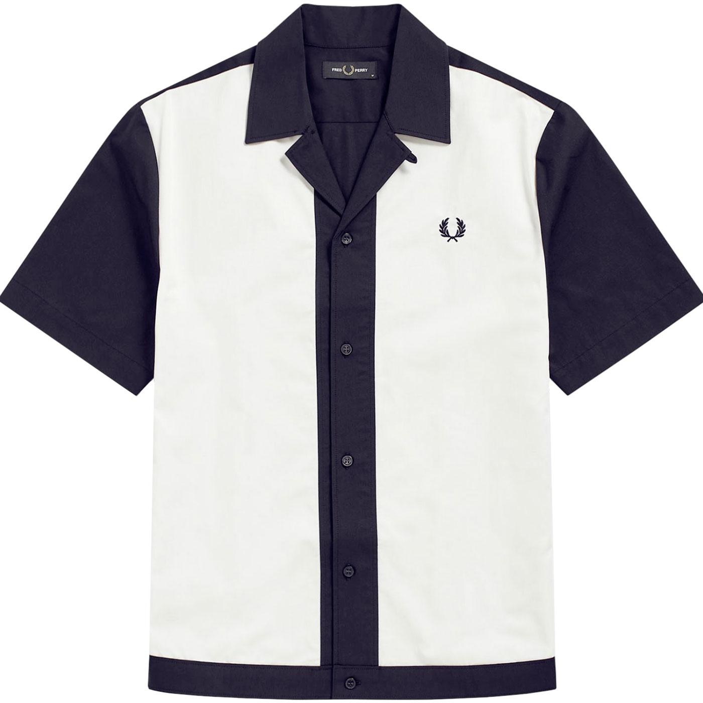 FRED PERRY Men's Retro 50's Panelled Bowling Shirt