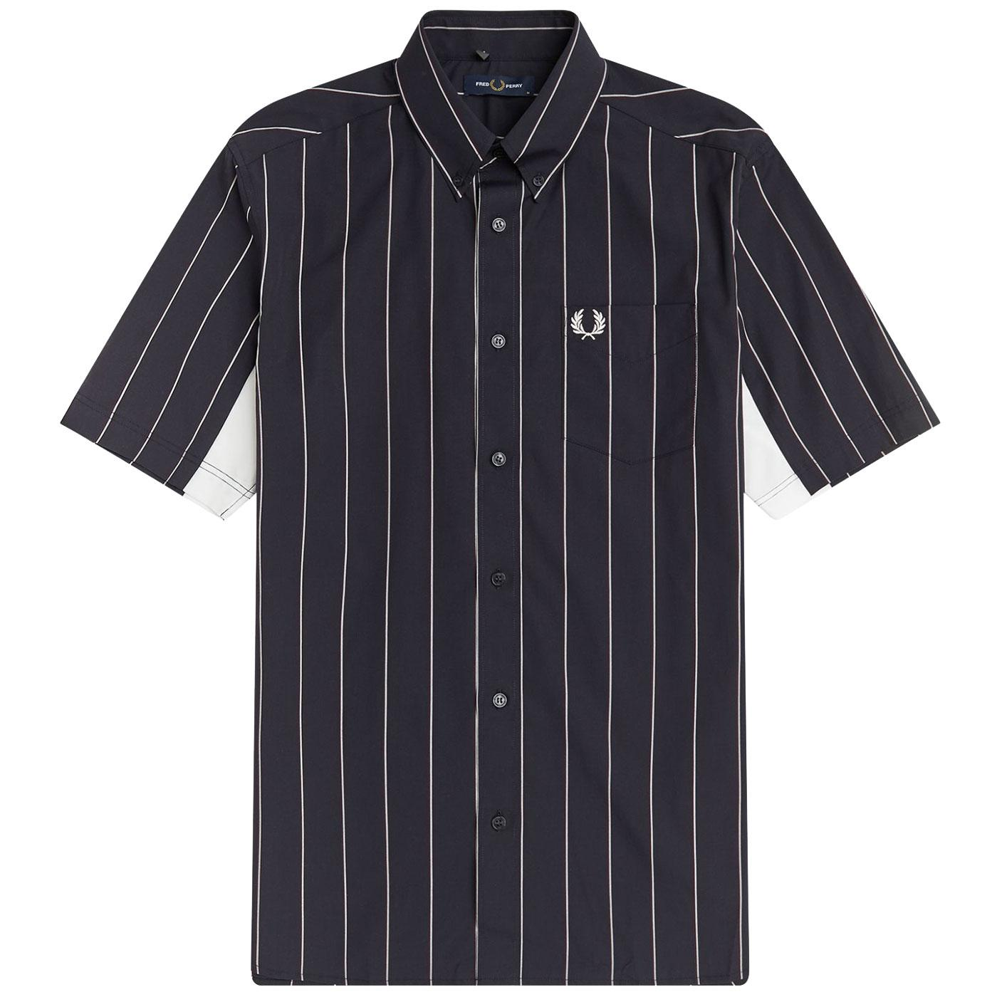 FRED PERRY Retro Short Sleeve Fine Stripe Shirt N