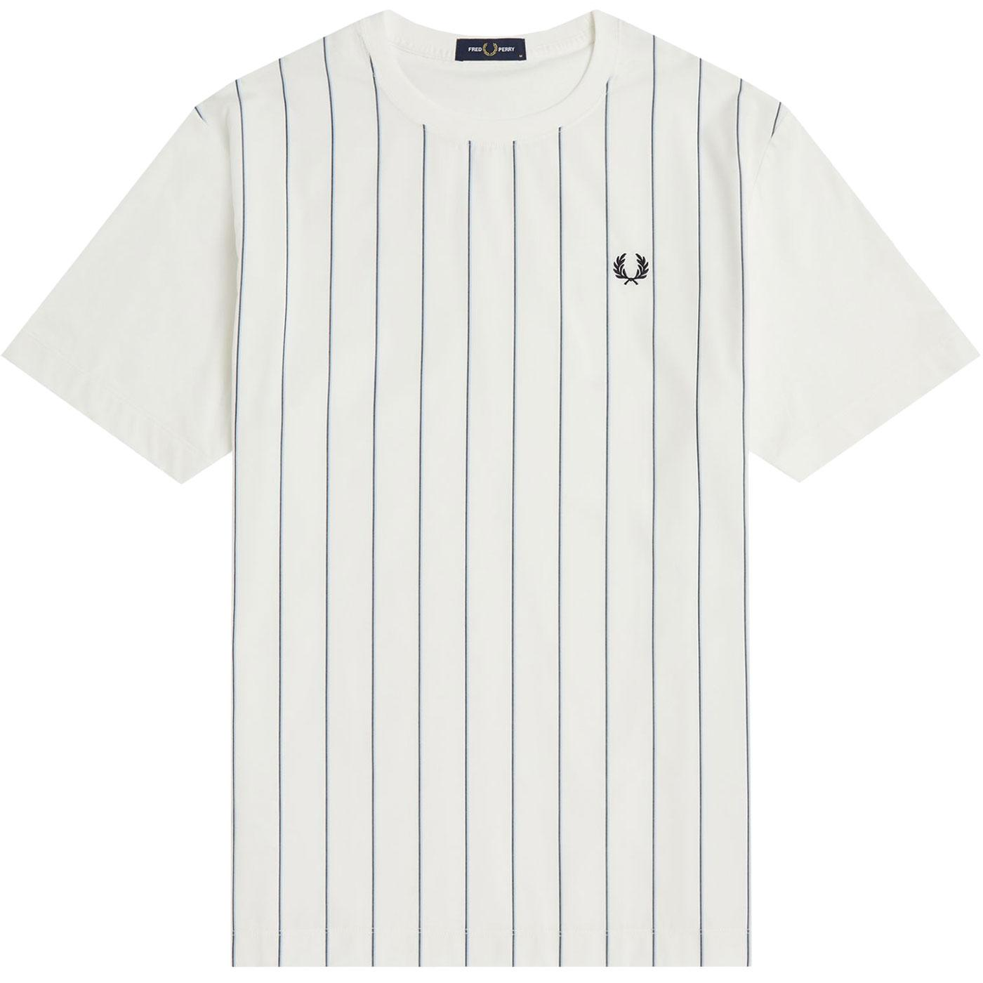 FRED PERRY Mens Retro Woven Pinstripe T-Shirt