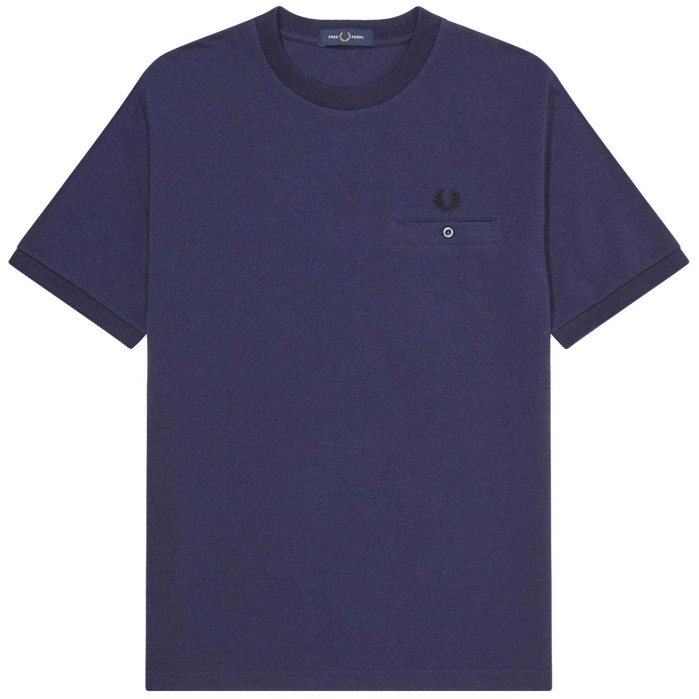 FRED PERRY Men's Retro Pocket Detail Pique T-Shirt