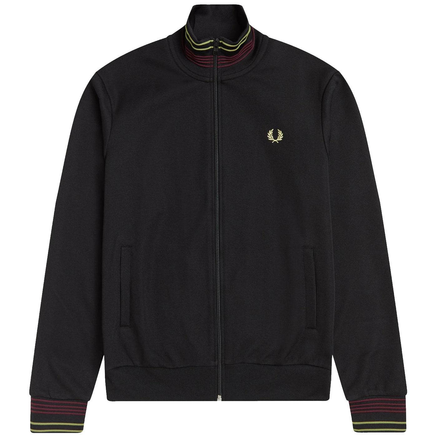 FRED PERRY Retro Lightweight Pique Track Jacket B