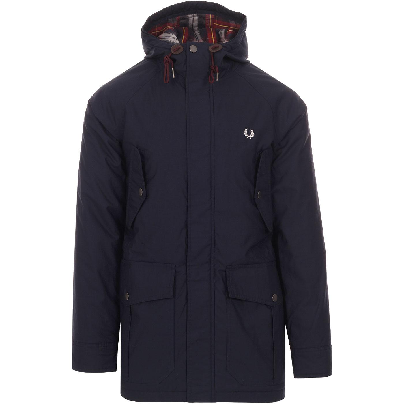 Portwood FRED PERRY Padded Mod Parka Jacket DC