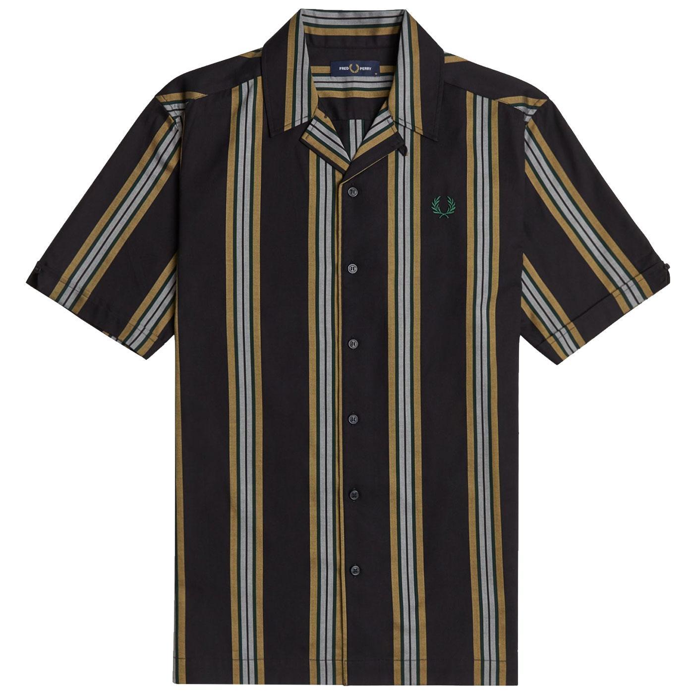 FRED PERRY Retro Stripe S/S Revere Collar Shirt