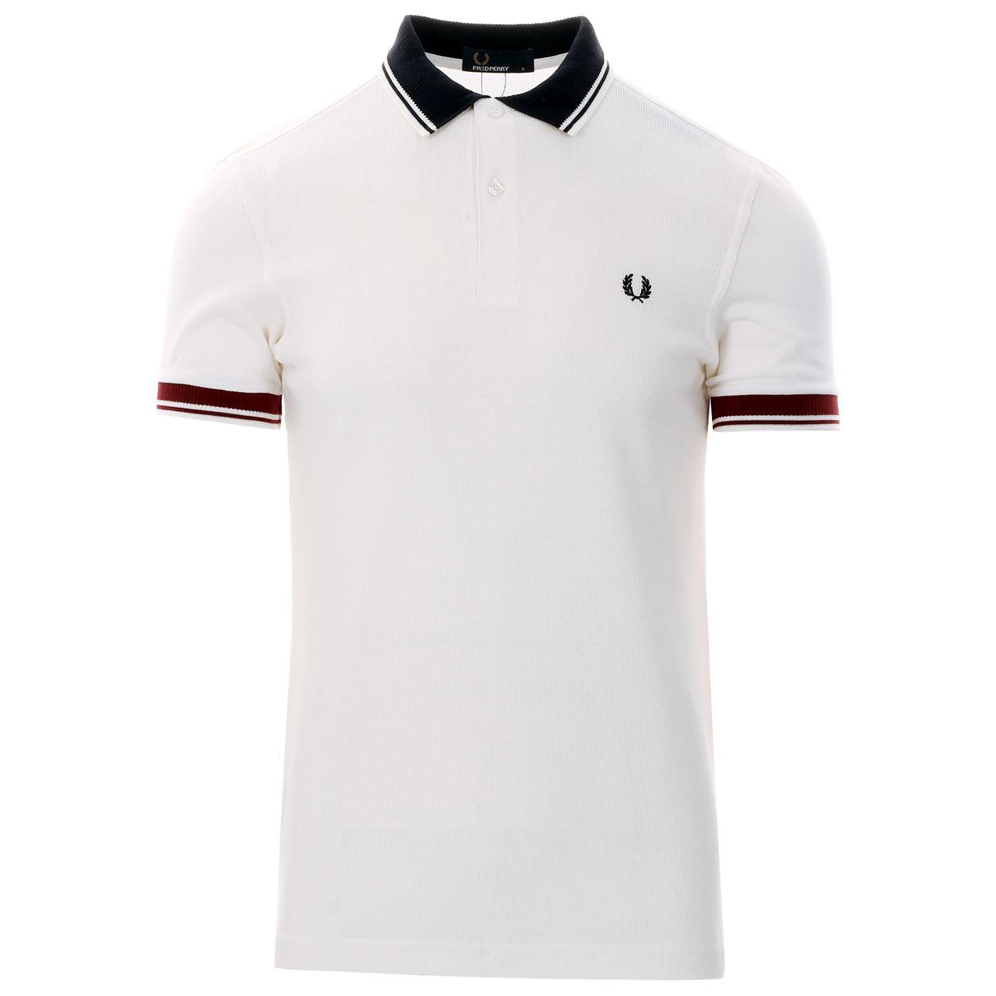 FRED PERRY Men's Ribbed Trim Pique Polo Shirt SW