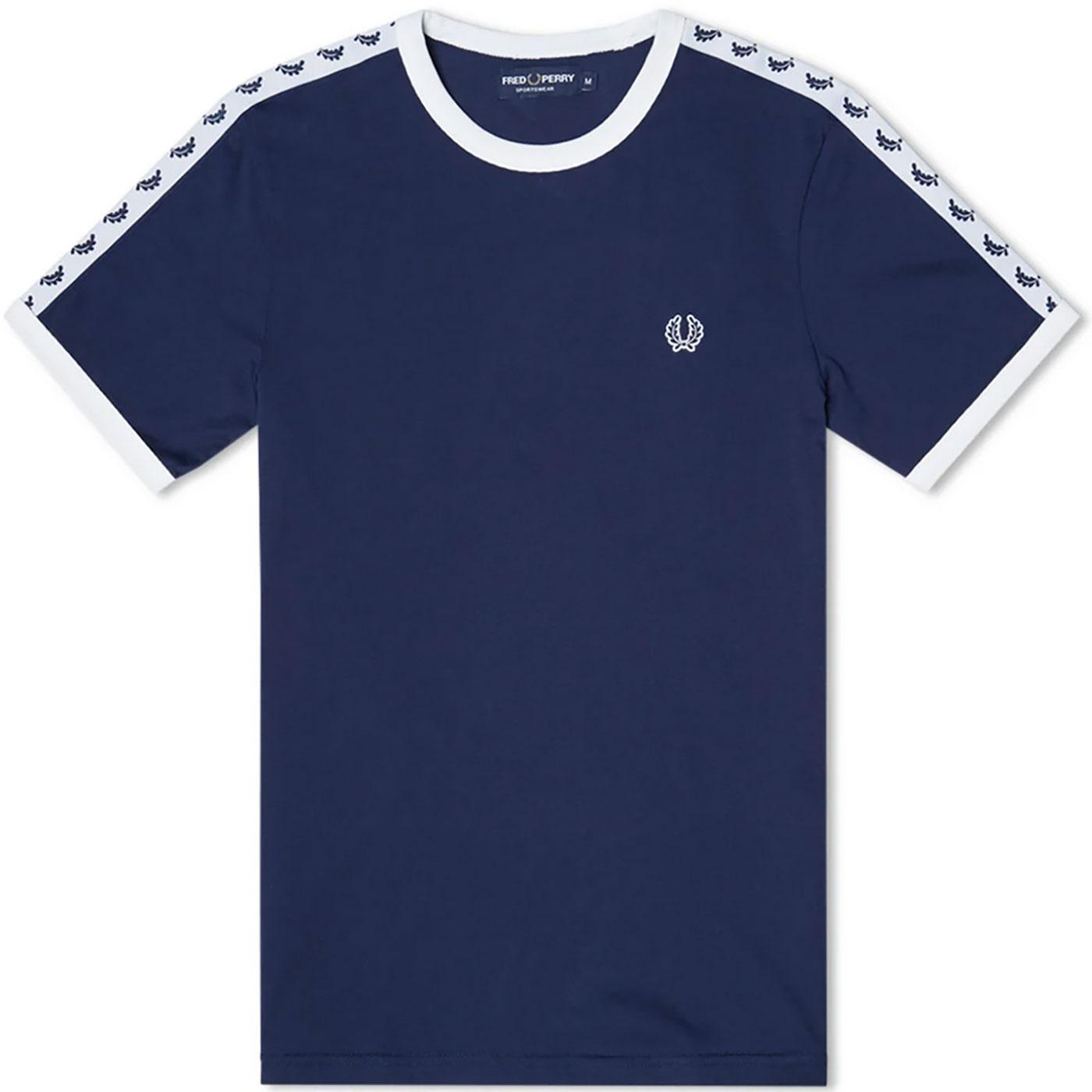 FRED PERRY M6347 Taped Sleeve Ringer t-Shirt BG