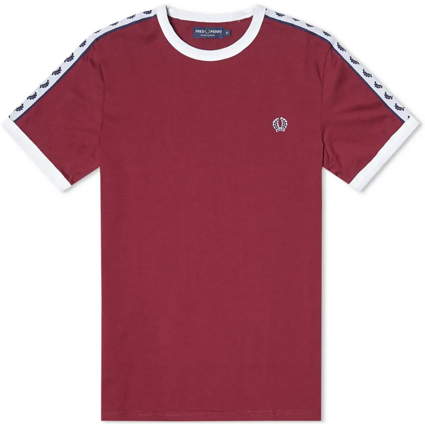 FRED PERRY Men's Retro Taped Sleeve Ringer Tee P