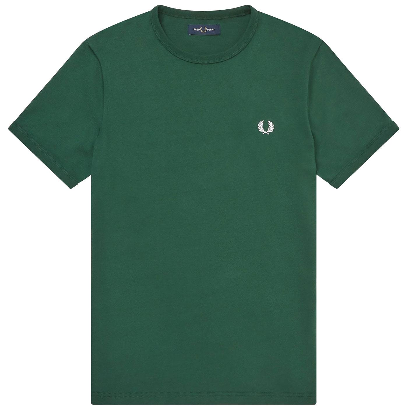 FRED PERRY Men's Crew Neck Ringer T-Shirt IVY