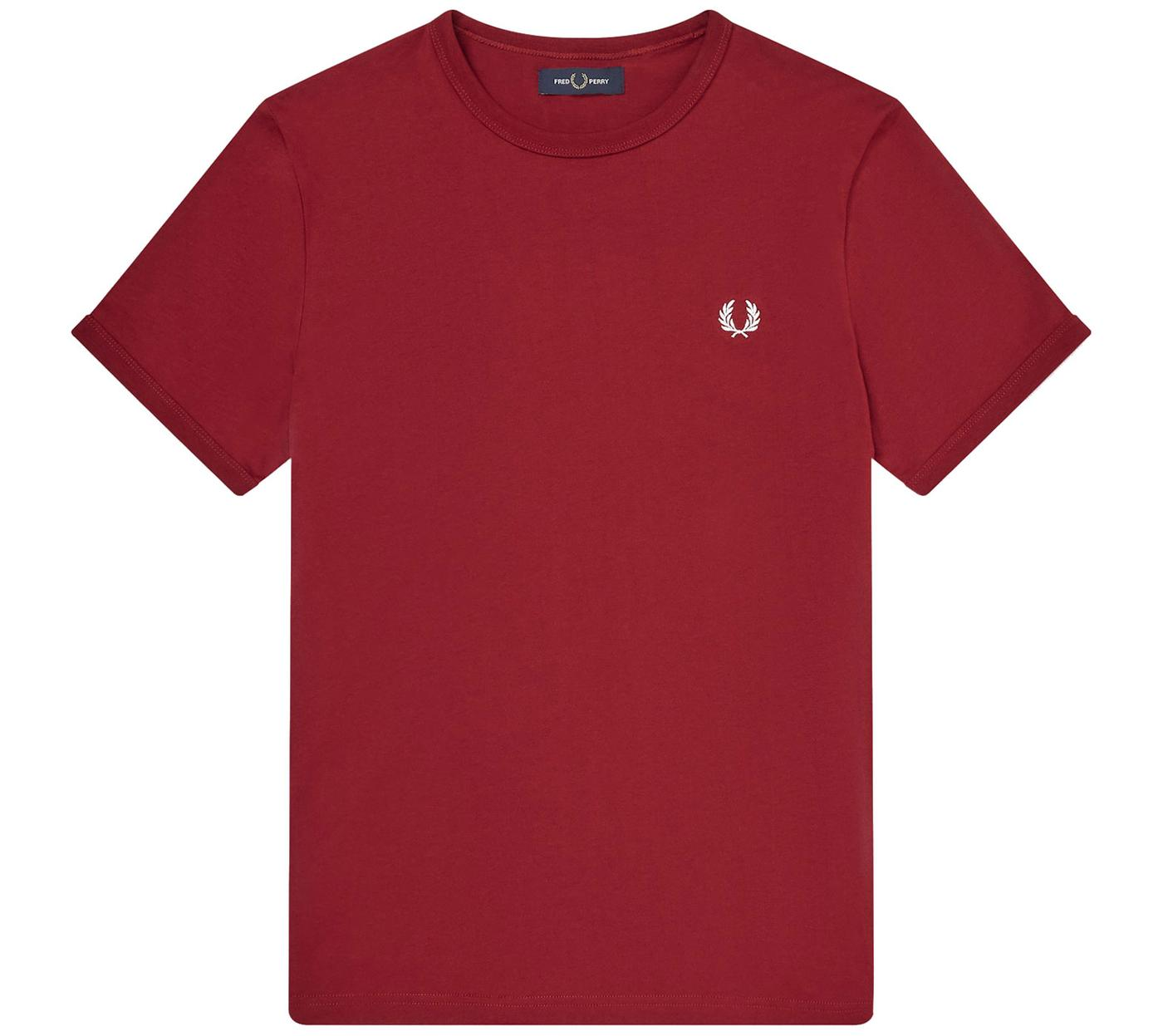 FRED PERRY Men's Retro Crew Neck Ringer T-Shirt