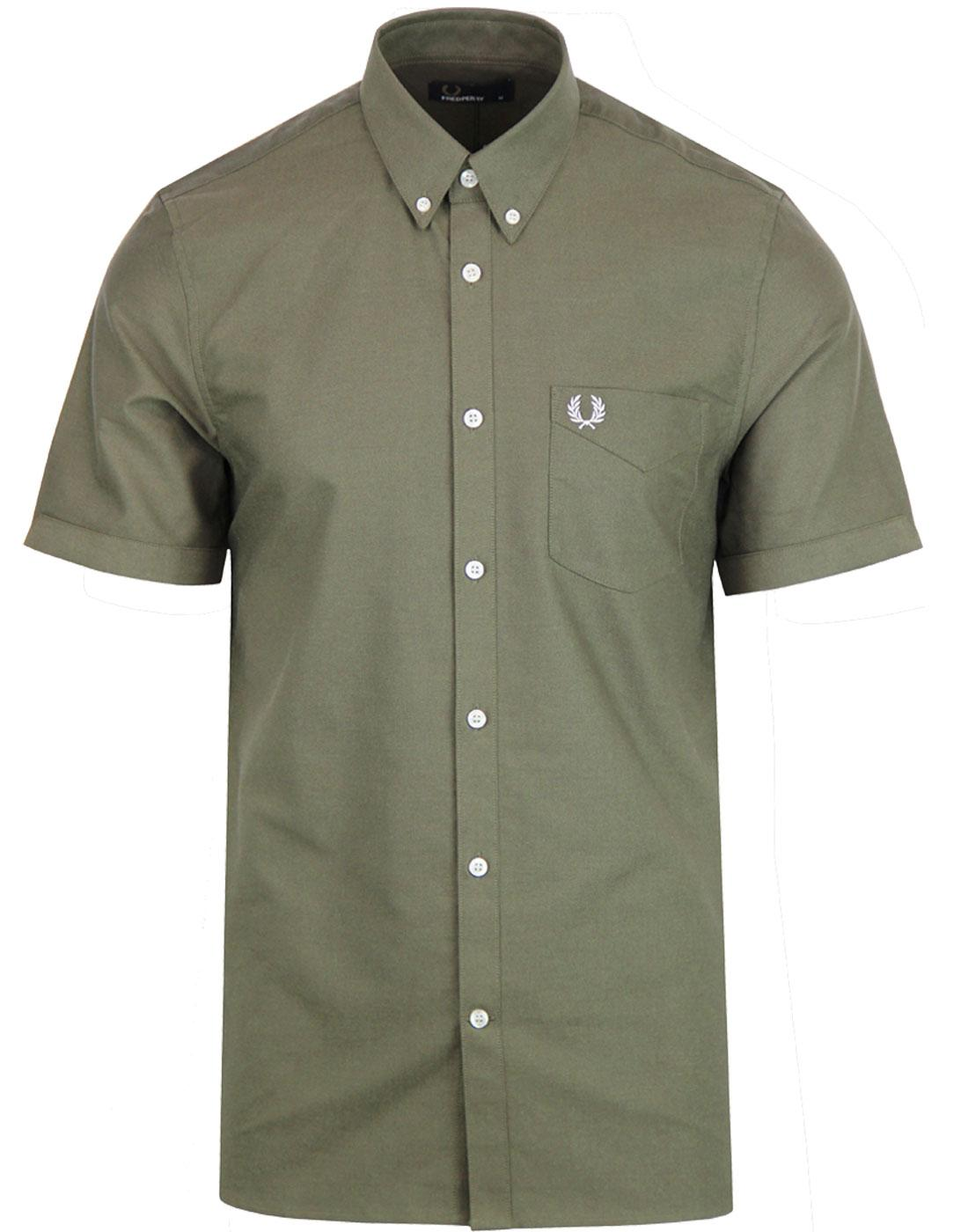 FRED PERRY Men's Classic S/S Oxford Shirt NETTLE