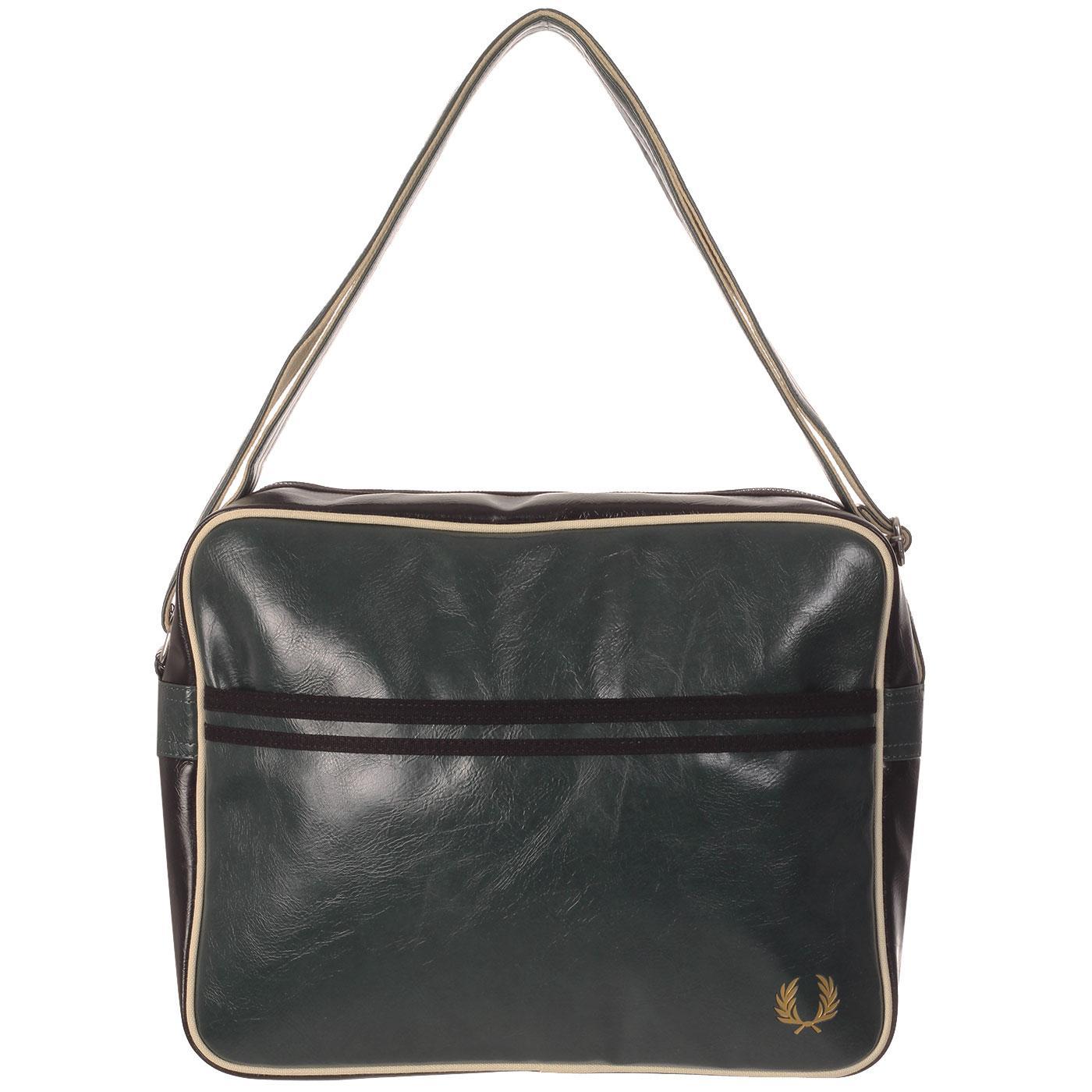 FRED PERRY Retro Classic Shoulder Bag - Ivy/Black