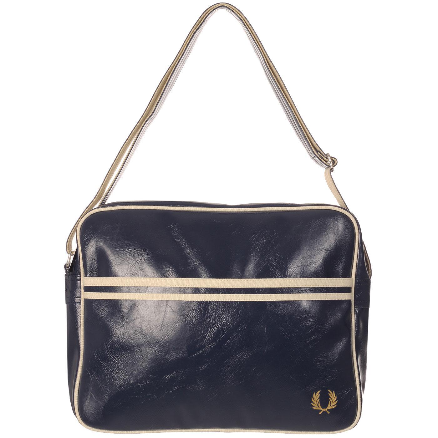FRED PERRY Retro Classic Shoulder Bag - Navy/Ecru