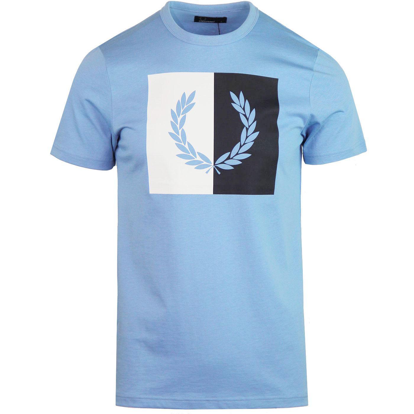 FRED PERRY Men's Split Laurel Wreath Logo T-Shirt