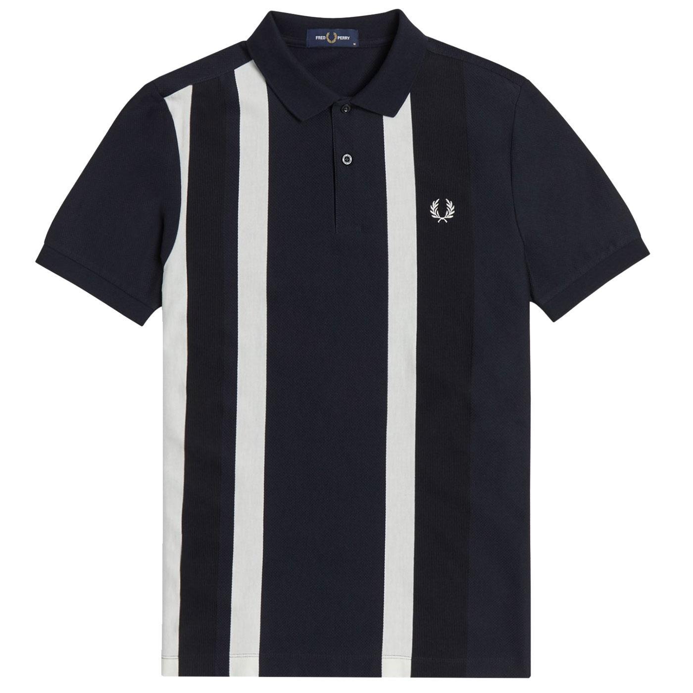 FRED PERRY Mod Textured Stripe Pique Polo Shirt N