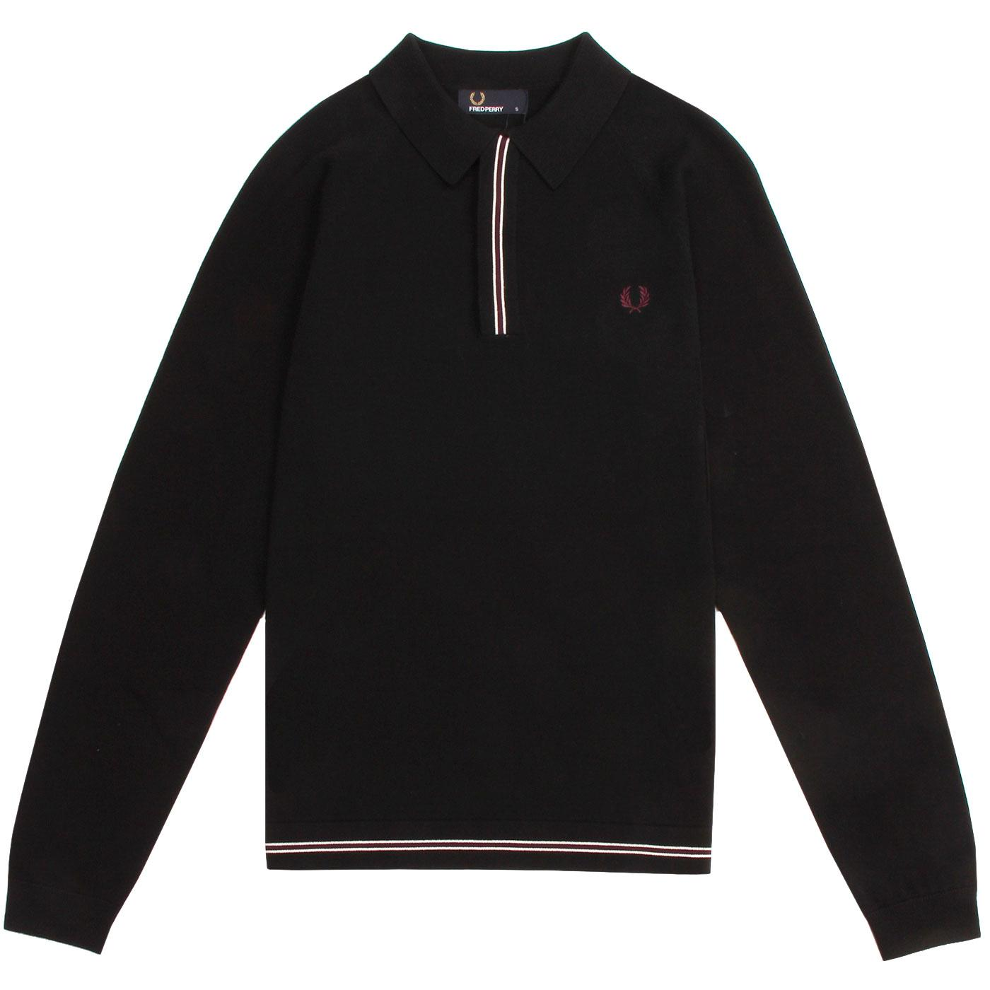 FRED PERRY Men's Contrast Tipped Knitted Polo Top