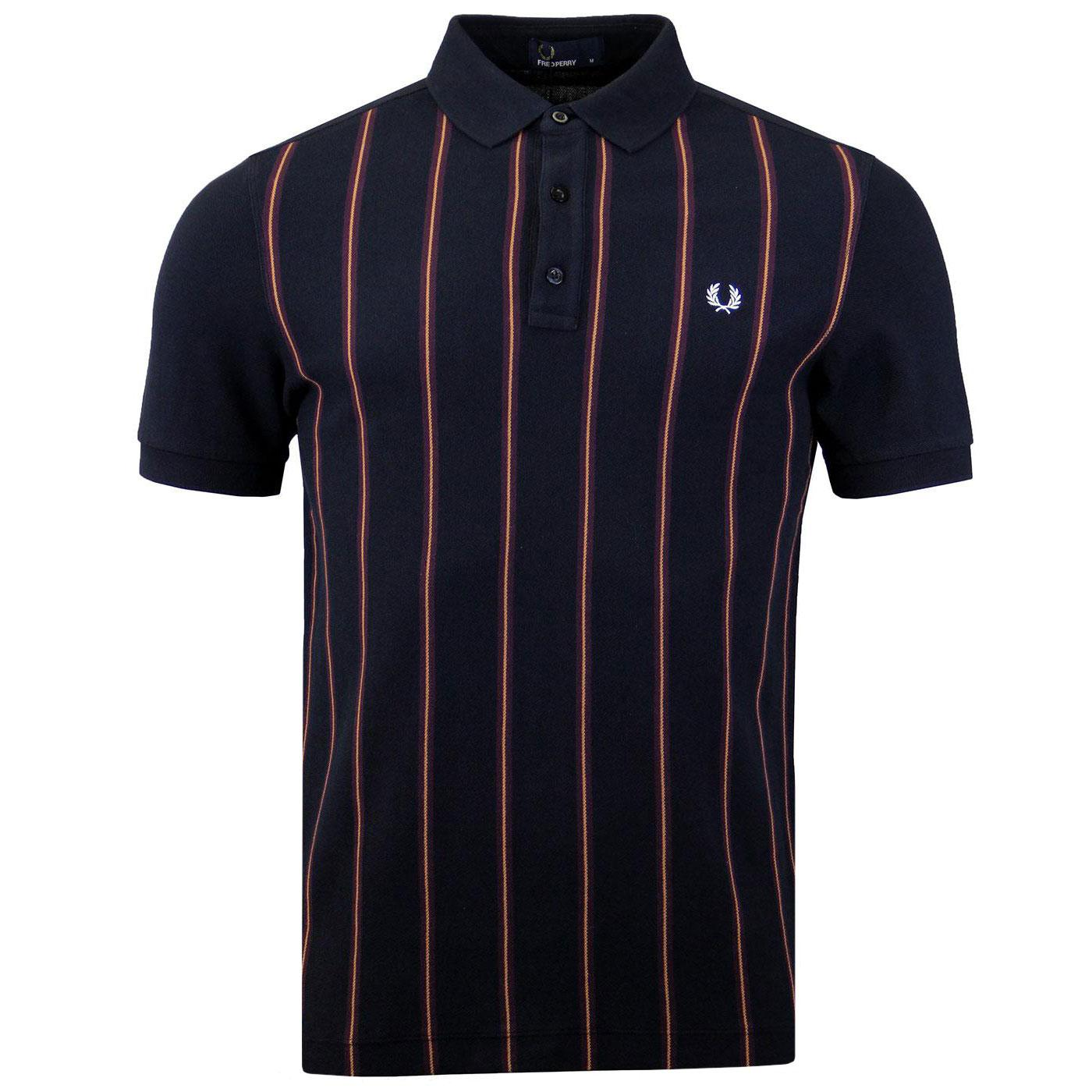 FRED PERRY Men's Mod Front Stripe Pique Polo Shirt