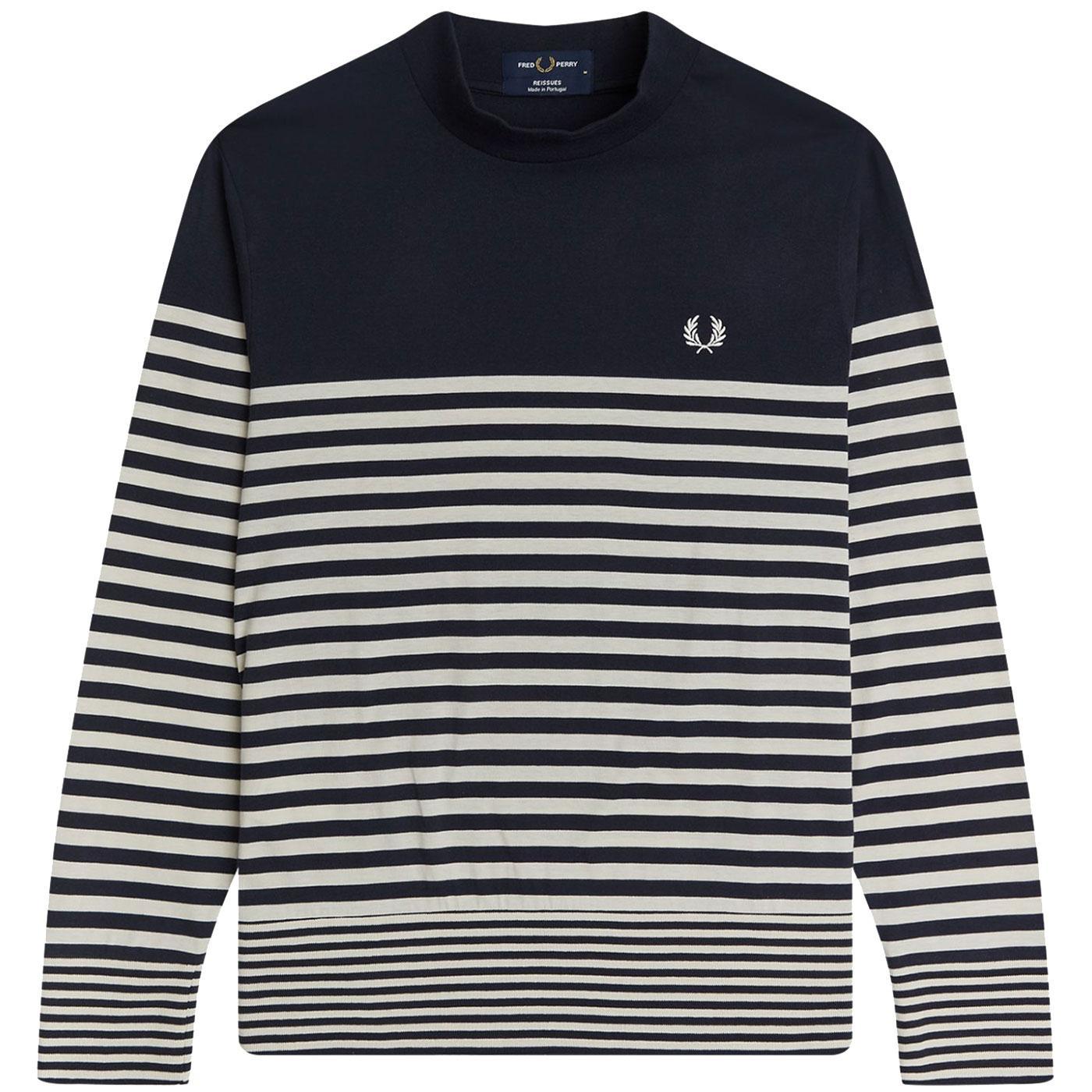 FRED PERRY Mod Breton Stripe Turtleneck Sweater