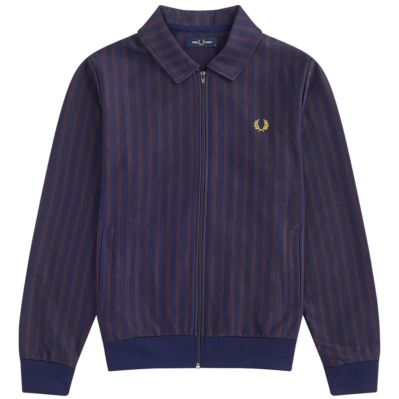 FRED PERRY Mens Retro Mod Striped Track Jacket CB