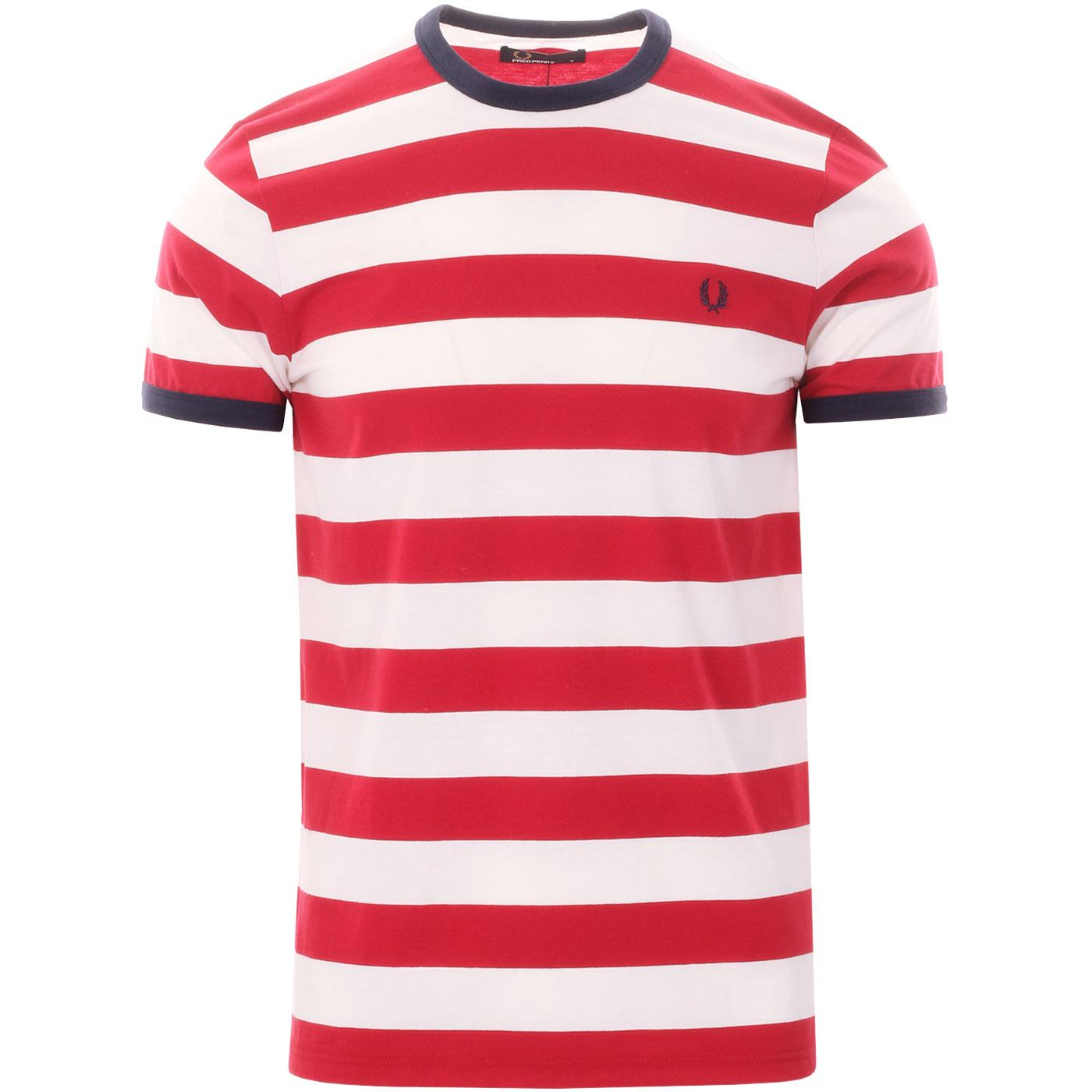 FRED PERRY Men's Retro Bold Striped Ringer T-Shirt