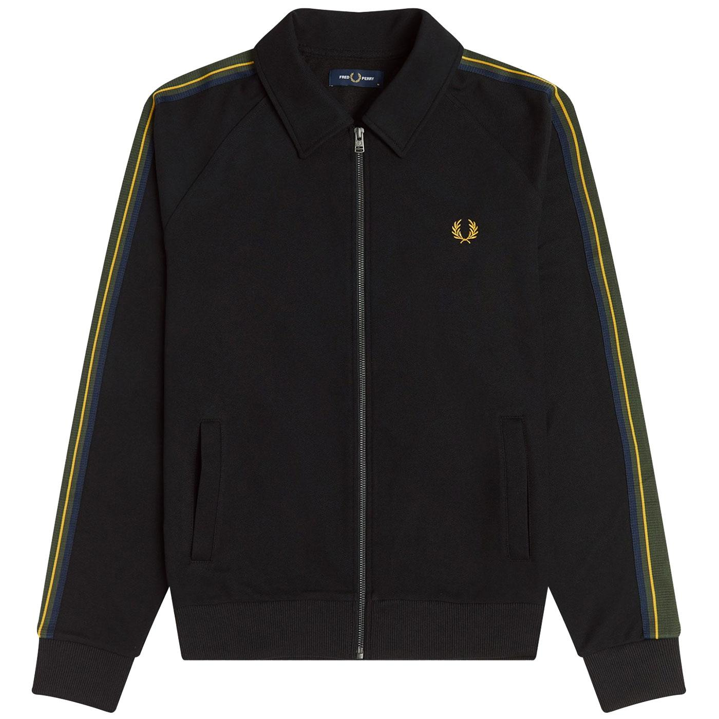FRED PERRY Retro Striped Tape Tricot Track Jacket