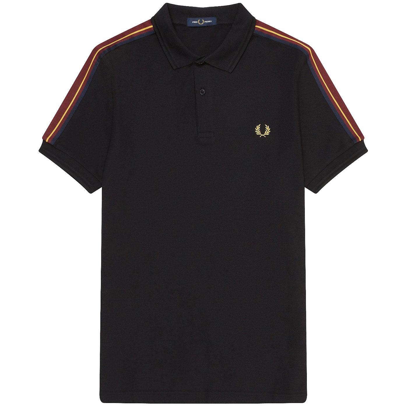 FRED PERRY Retro Tape Shoulder Pique Polo Shirt