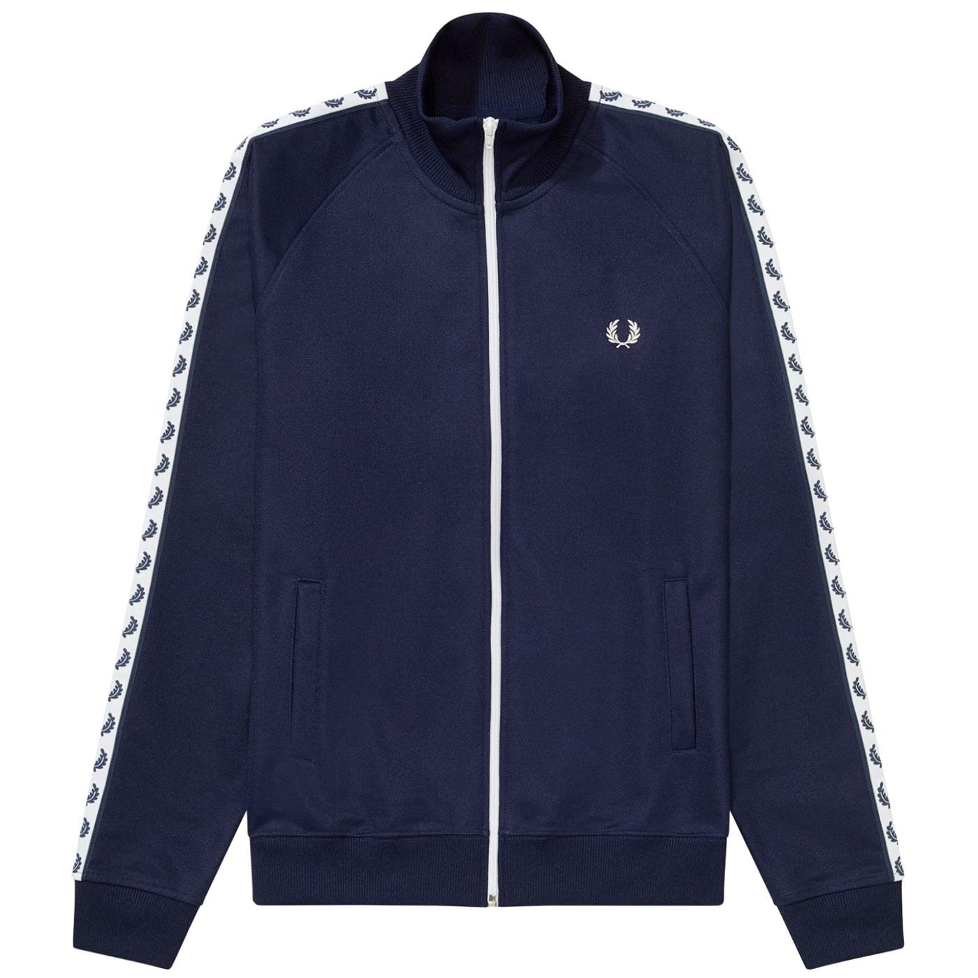 FRED PERRY Mens Laurel Wreath Tape Track Jacket CB