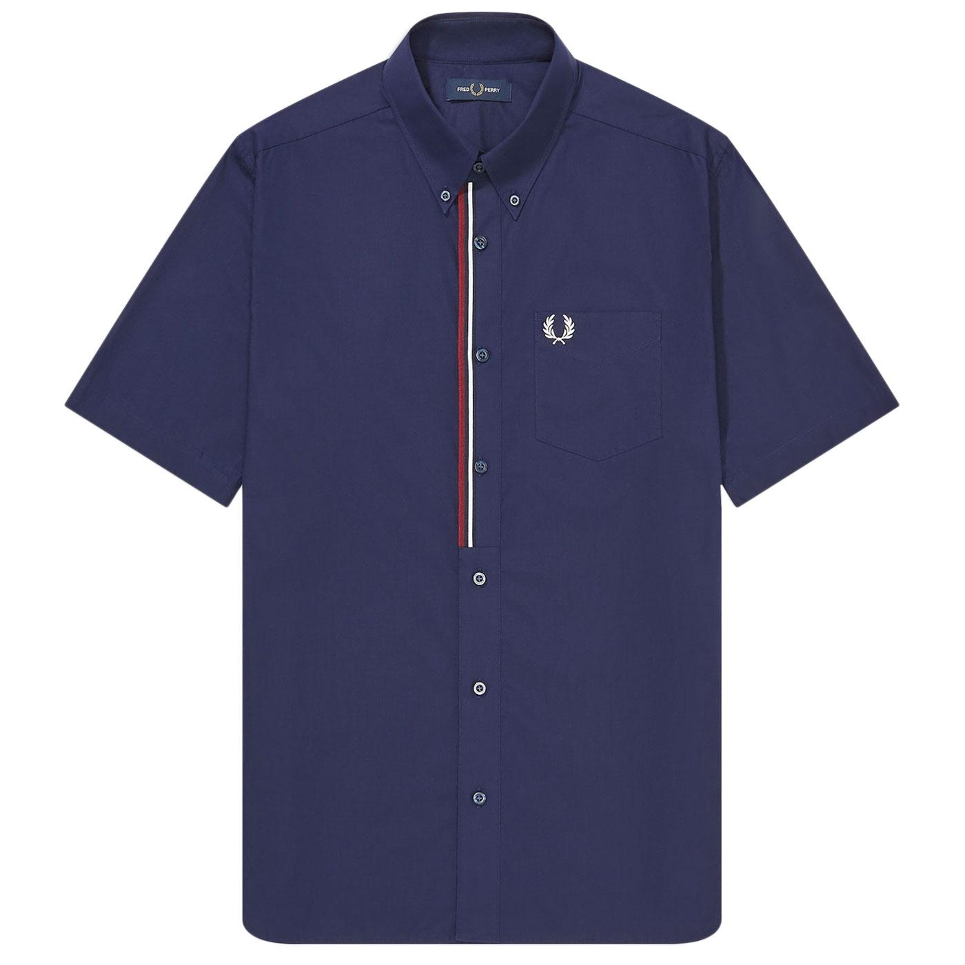 FRED PERRY Retro Mod Taped Placket SS Shirt (CB)