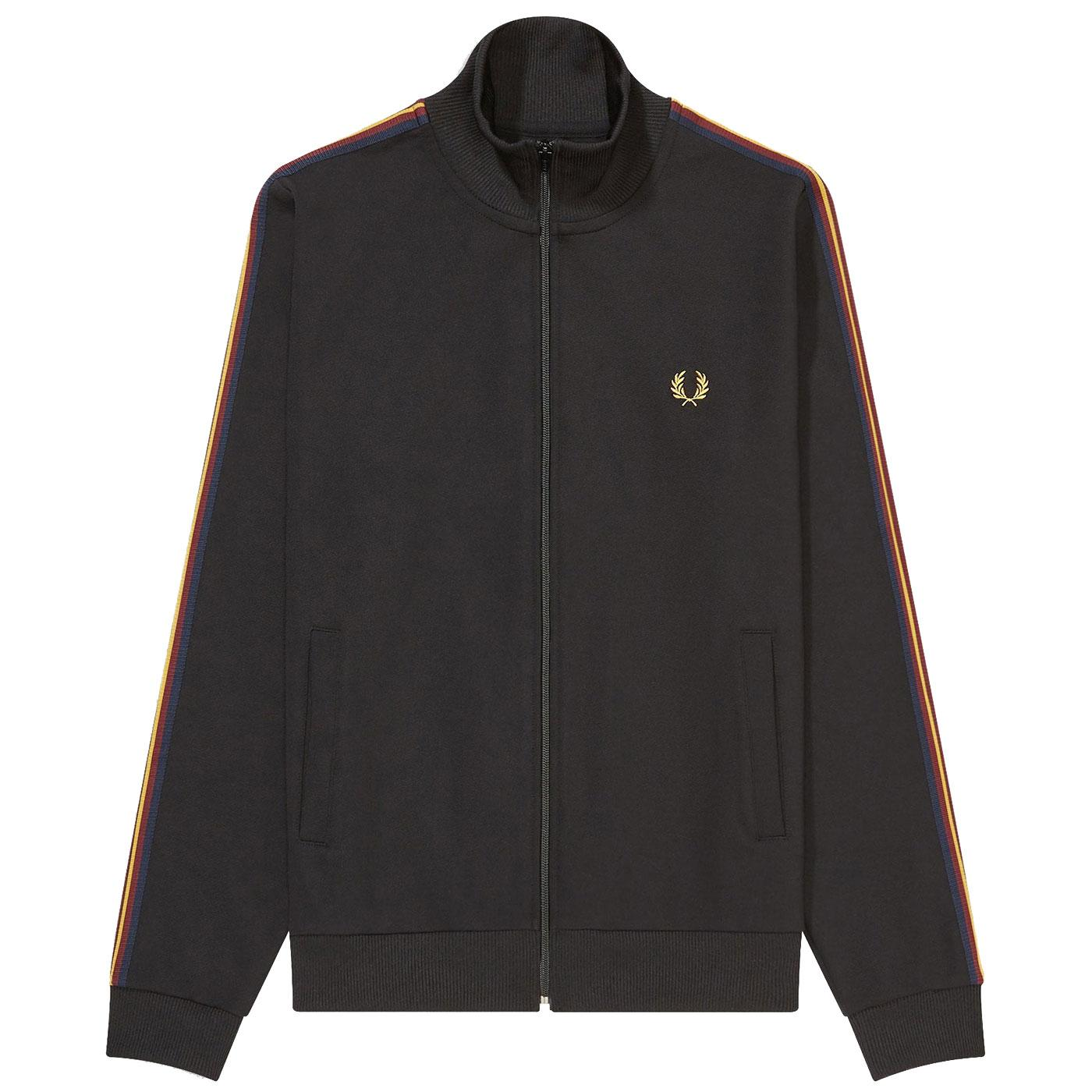 FRED PERRY Men's Contrast Sleeve Tape Track Jacket