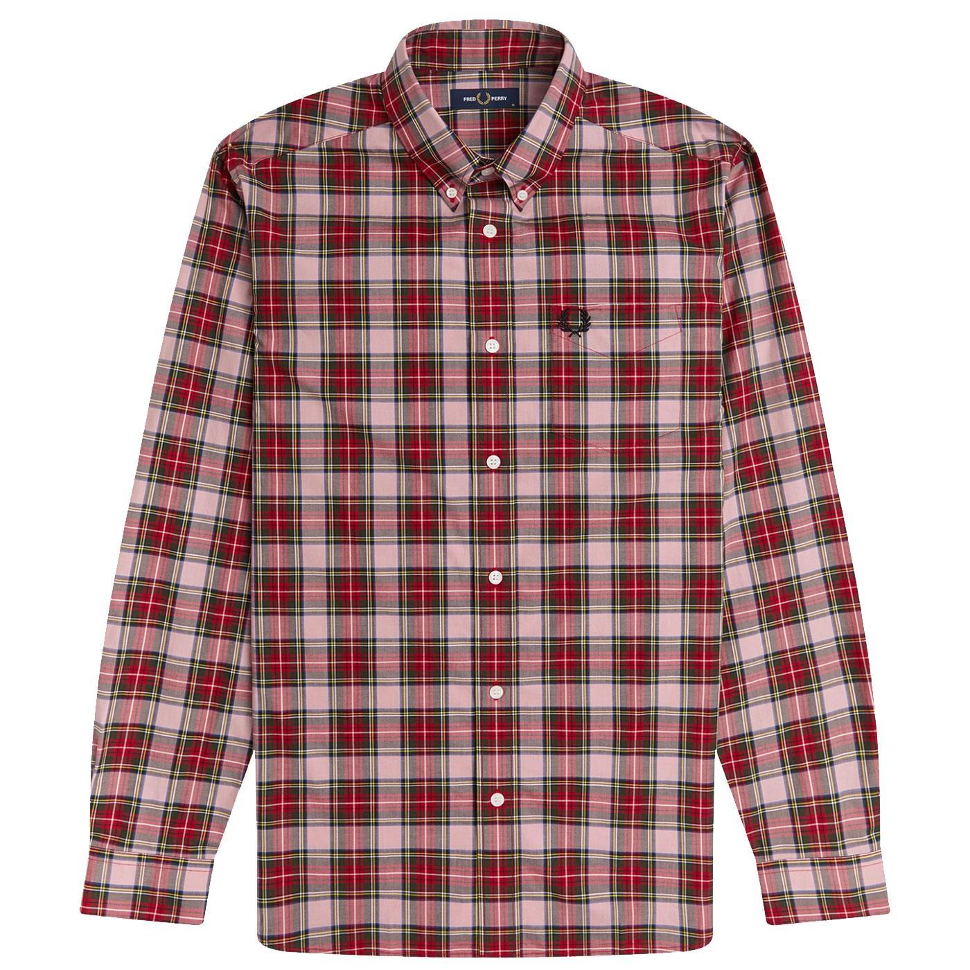 FRED PERRY Mod Tartan Check Button Down Shirt CP