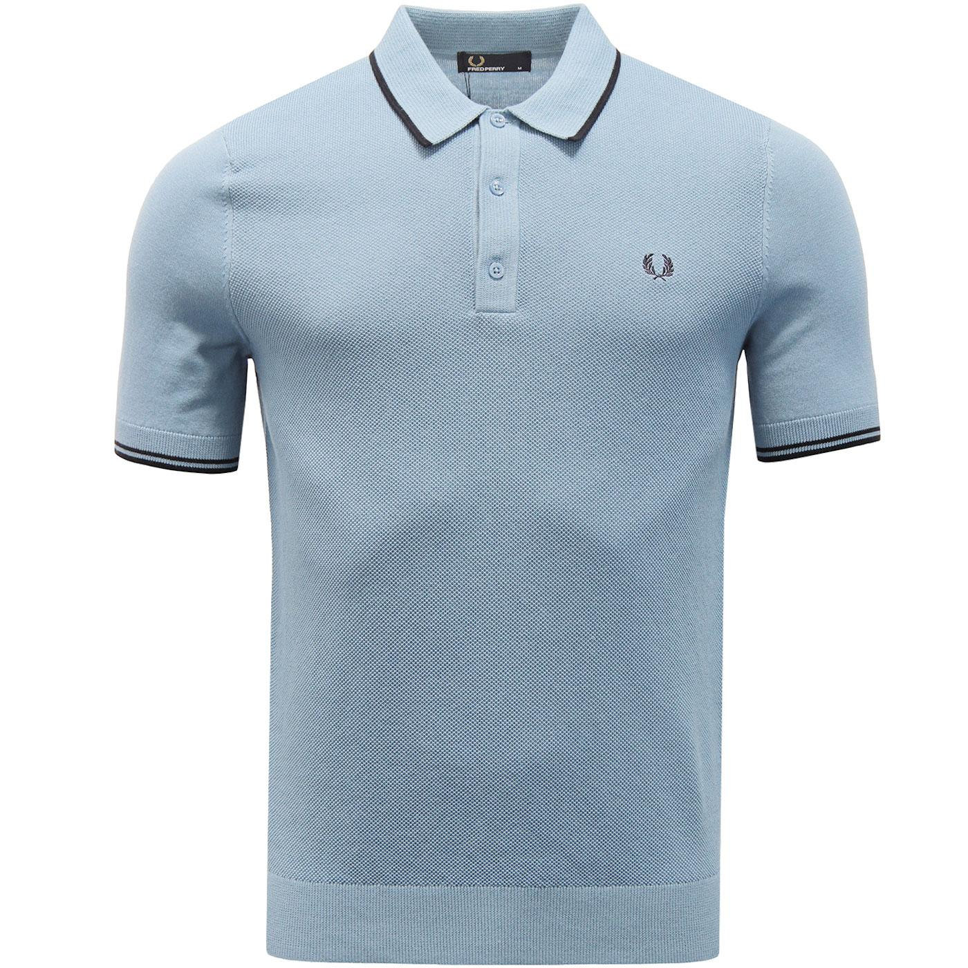 FRED PERRY Men's Mod Tipped Knitted Polo Shirt C