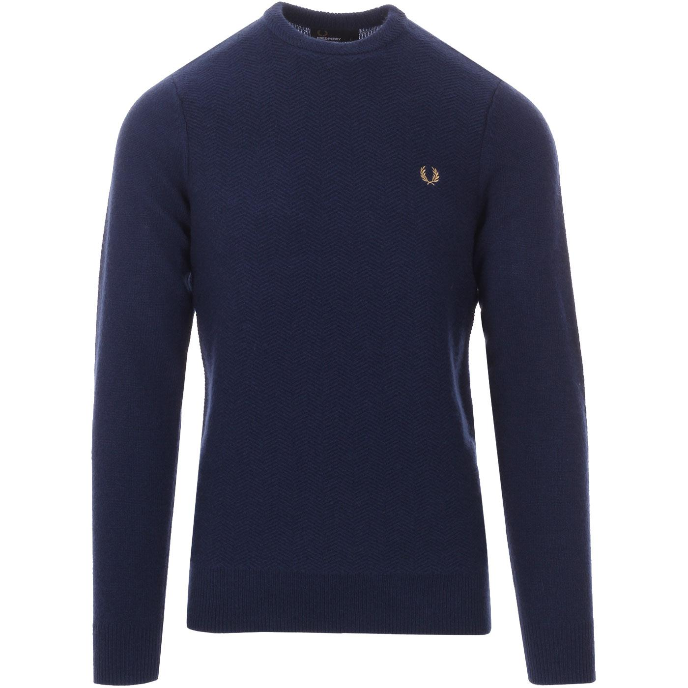 FRED PERRY Men's Chevron Texture Knitted Jumper SB