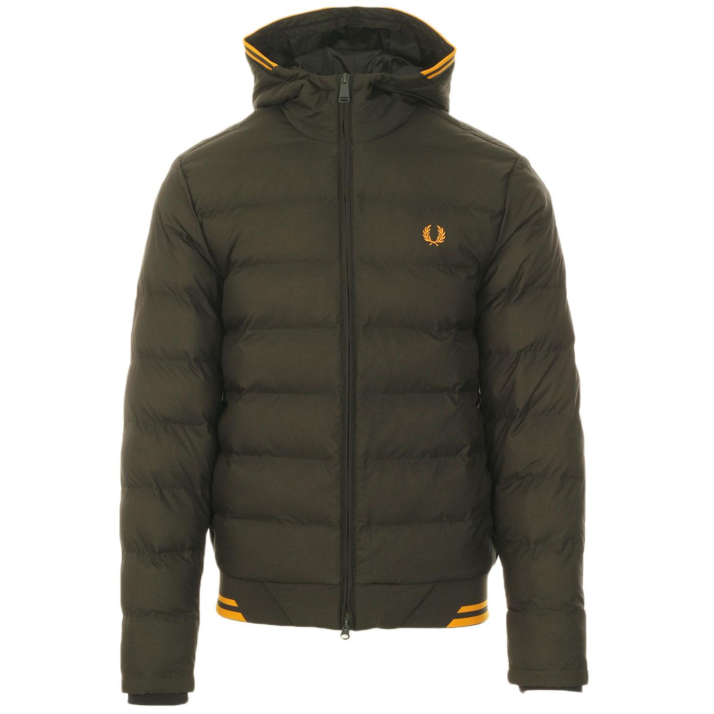 FRED PERRY Retro Tipped Hooded Puffer Jacket (HG)