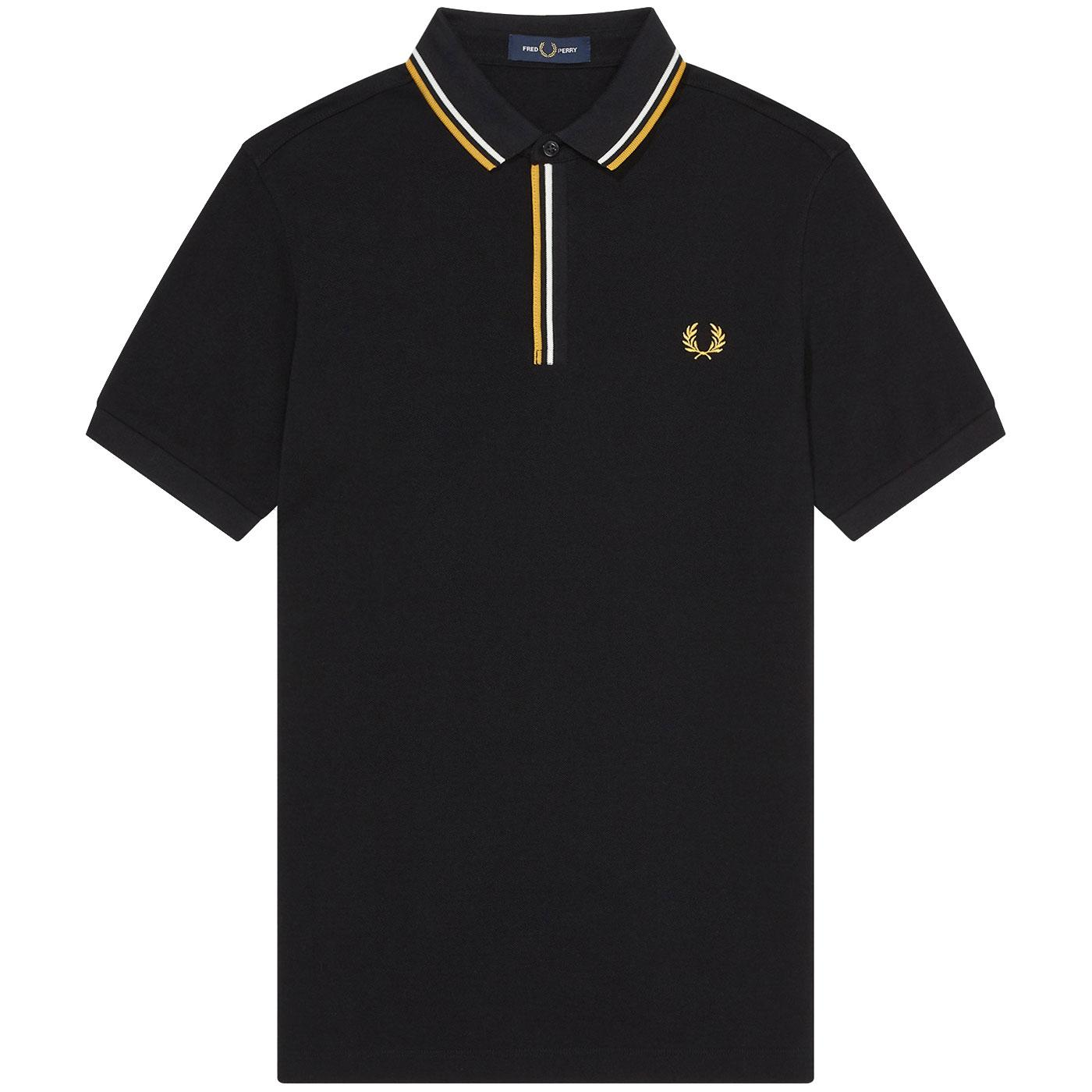 FRED PERRY Retro Mod Tipped Placket Mod Polo Shirt