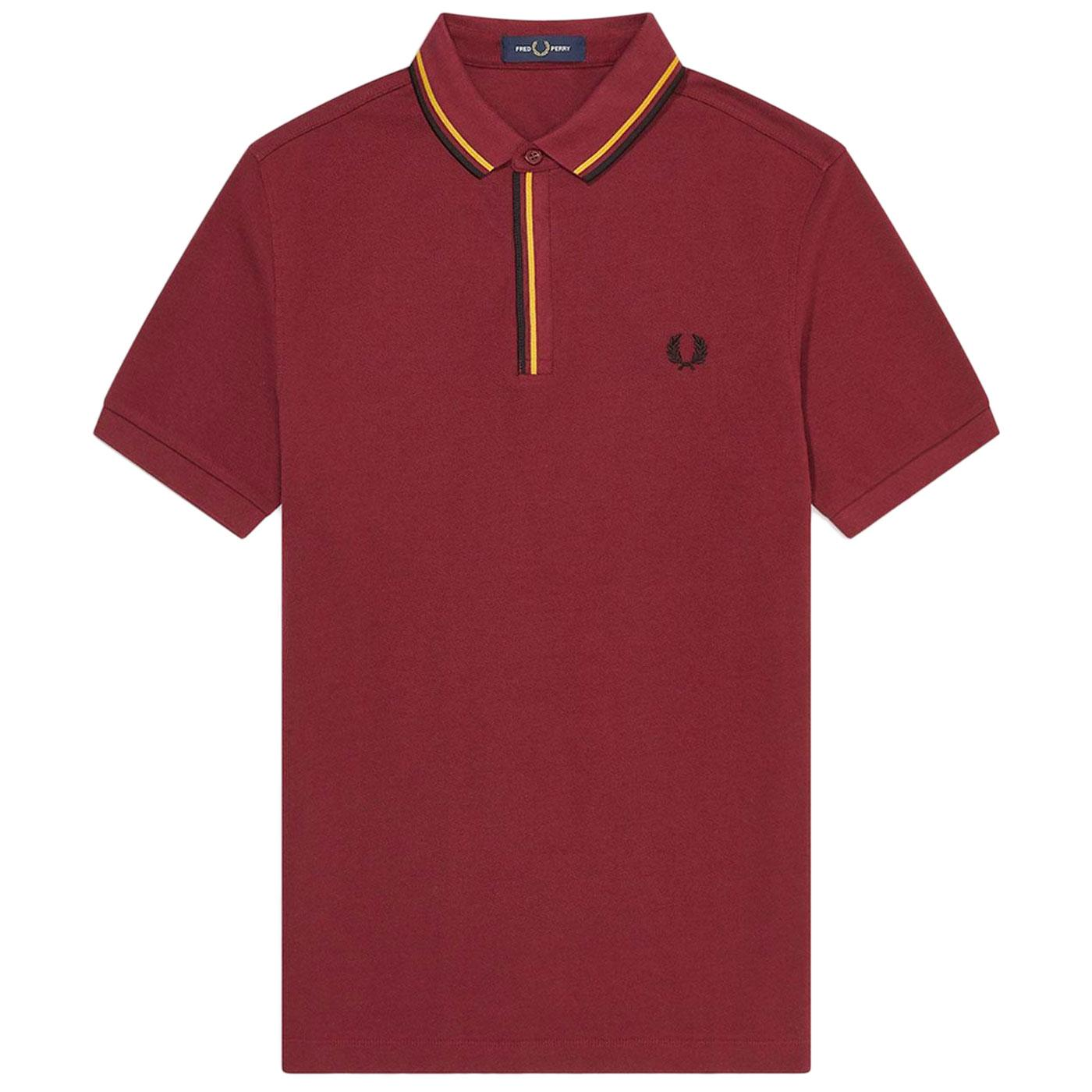 FRED PERRY M8559 Mod Tipped Placket Polo Top PORT