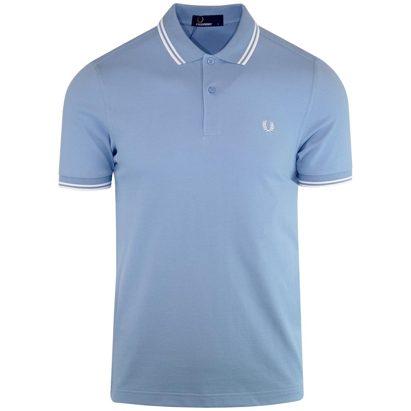 FRED PERRY M3600 Mod Twin Tipped Polo Shirt (Sky)