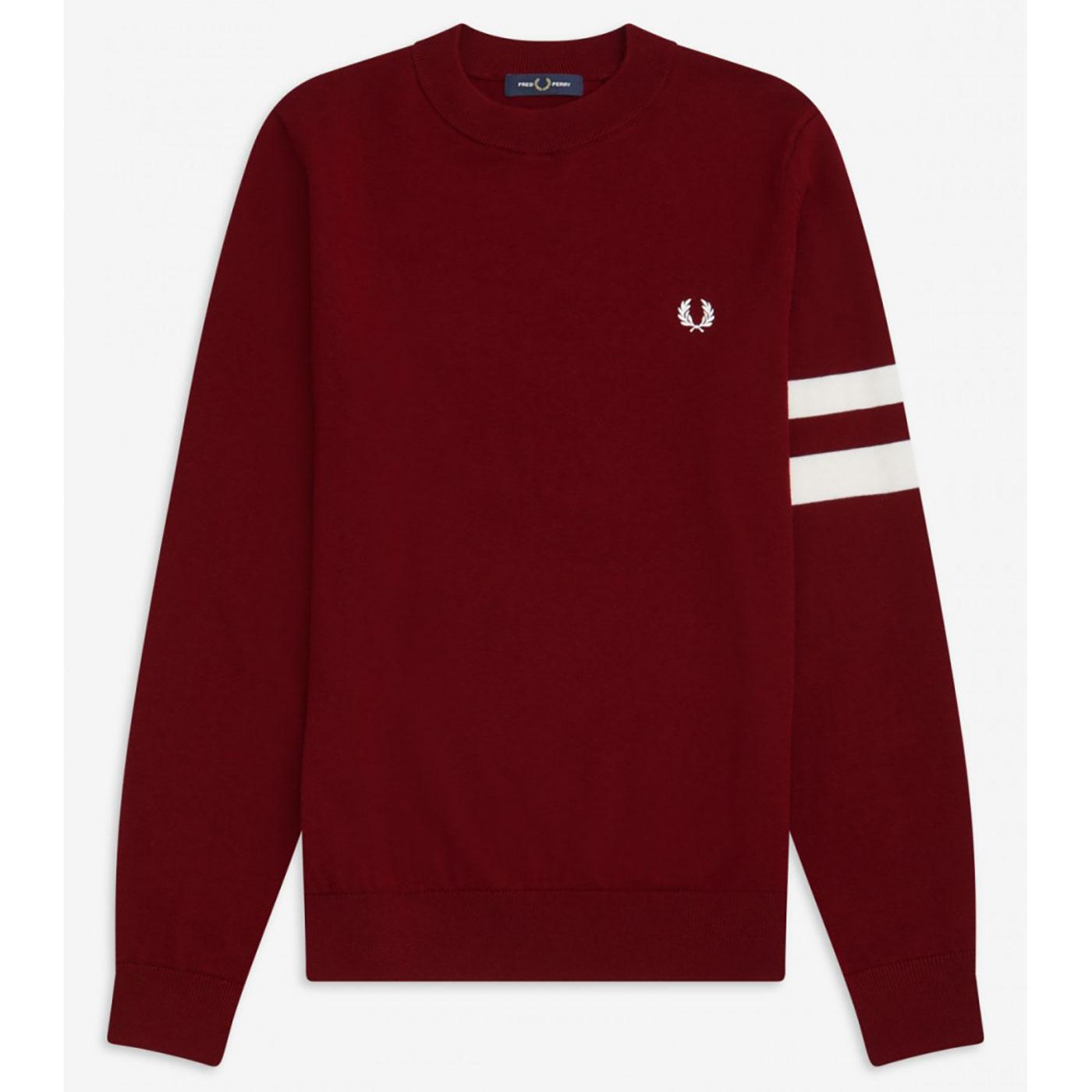 FRED PERRY Retro Mod Tipped Sleeve Jumper DR