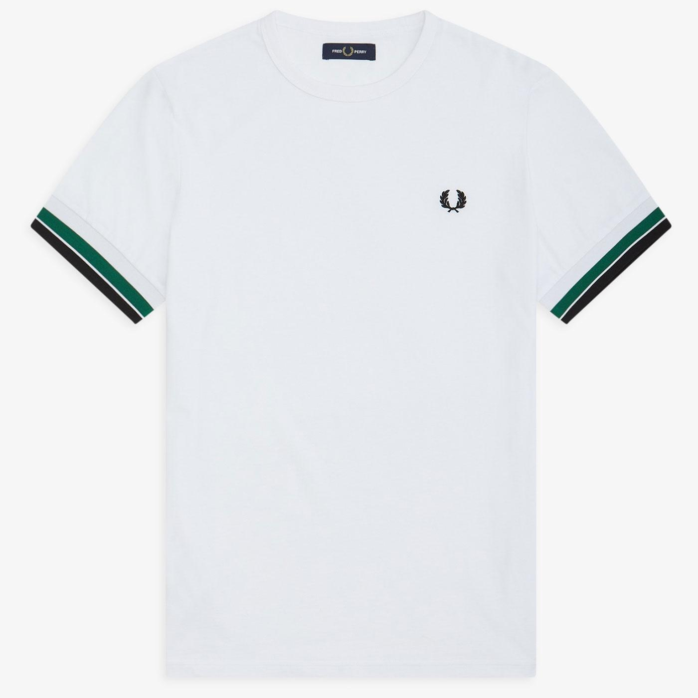 FRED PERRY Men's Retro Bold Tipped T-Shirt WHITE