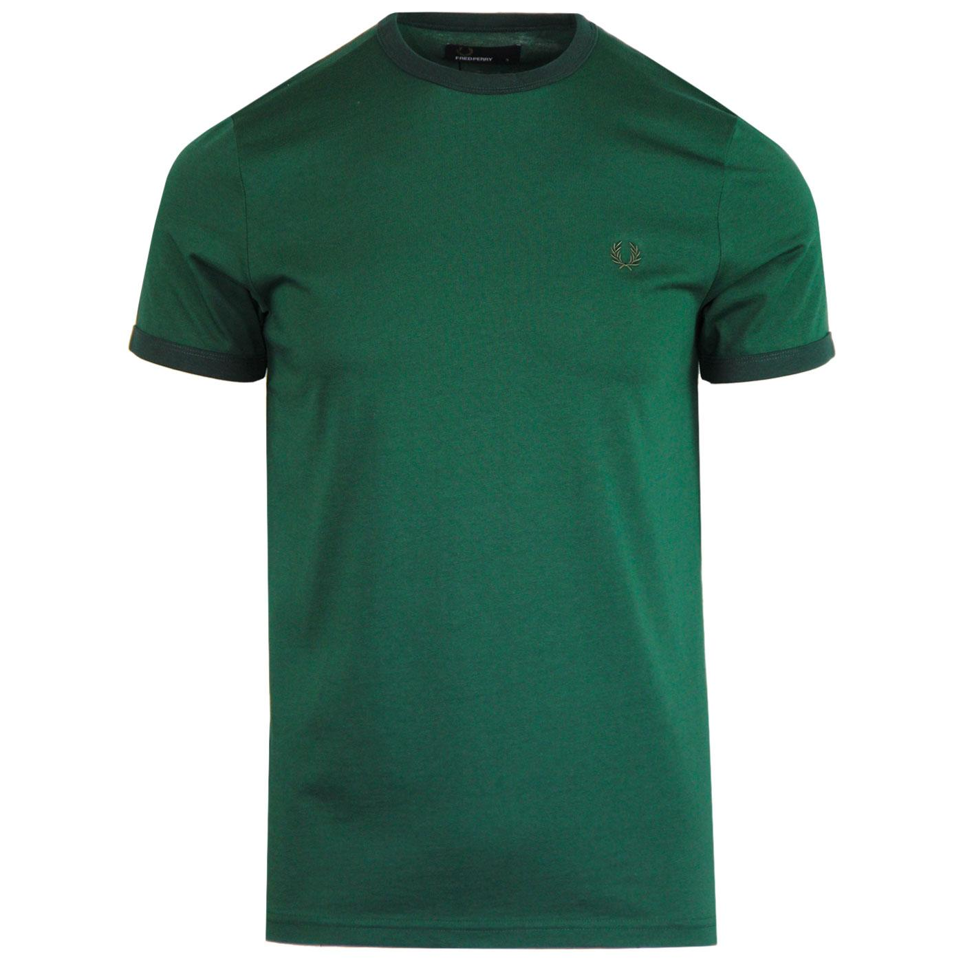 FRED PERRY Retro Mod Crew Neck Ringer T-shirt IVY