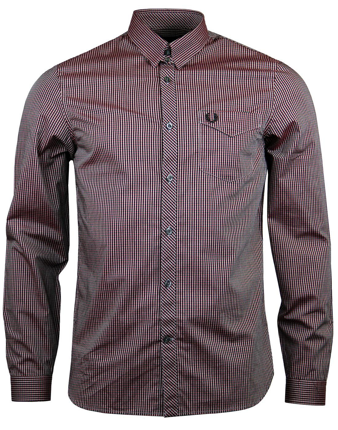 FRED PERRY M2552 Claret Tonic Gingham Shirt
