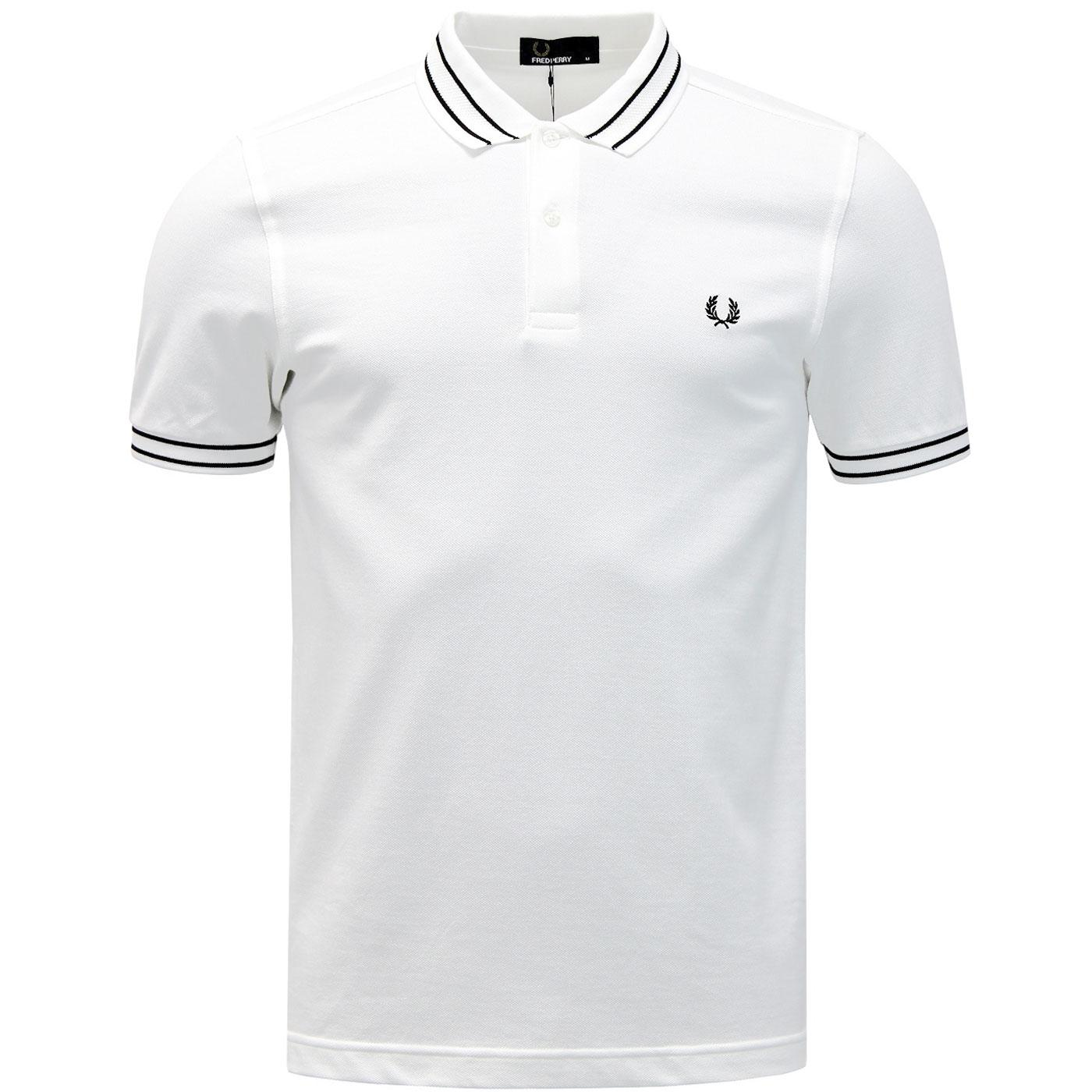 FRED PERRY Tramline Tipped Mod Pique Polo Shirt W