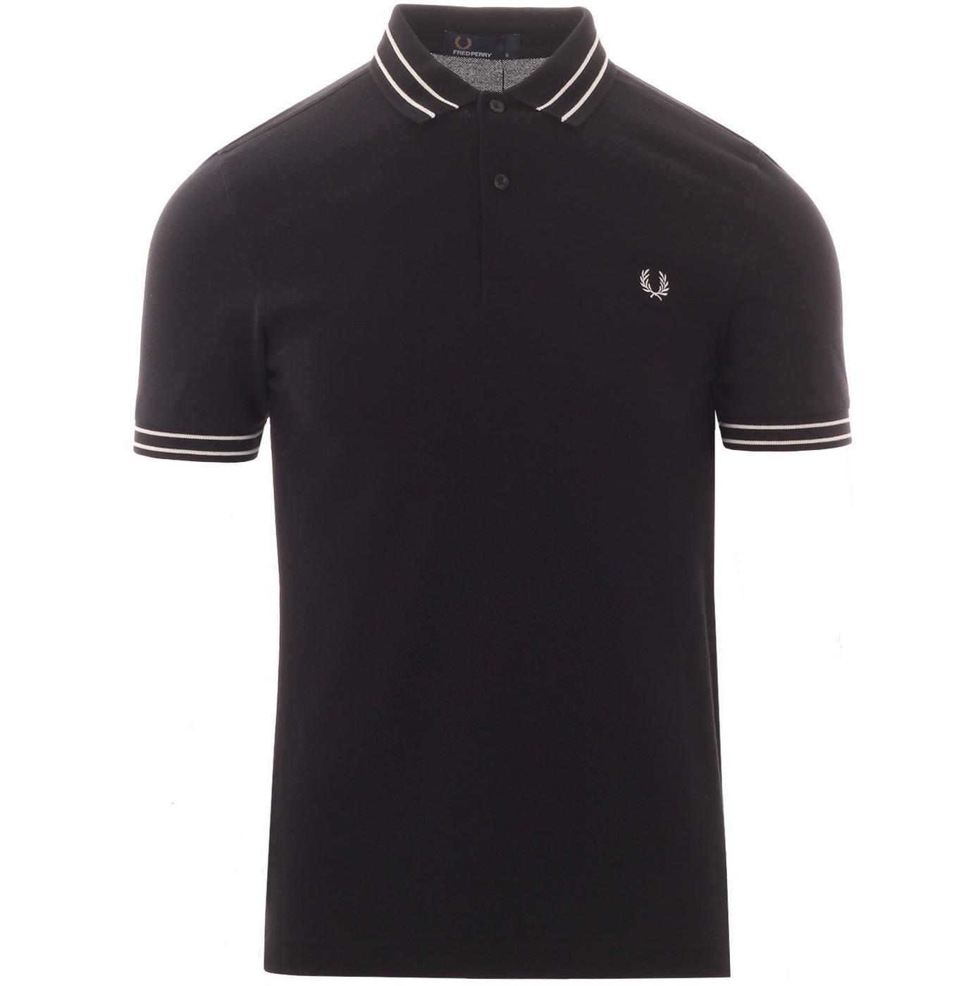 FRED PERRY Tramline Tipped Mod Pique Polo Shirt