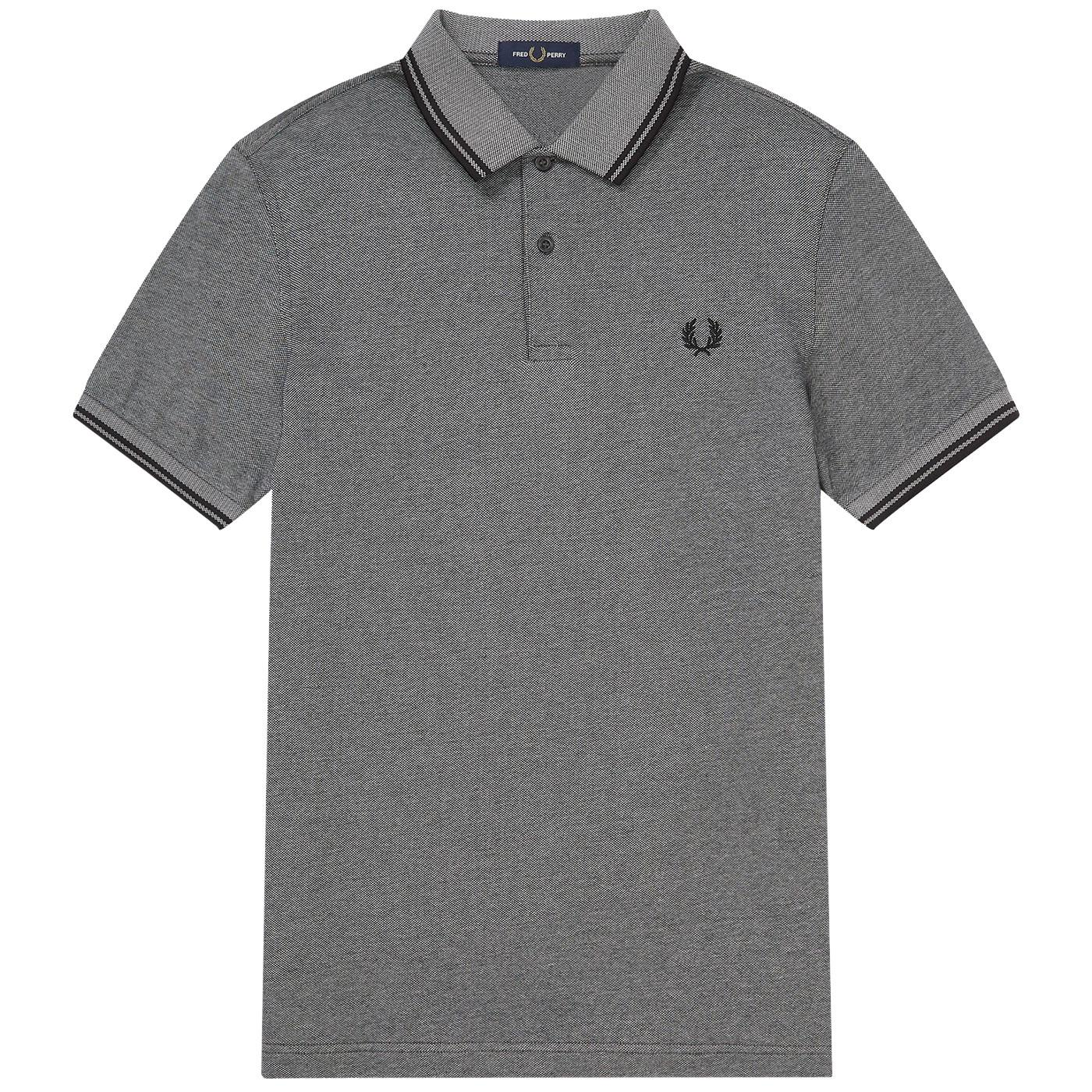 FRED PERRY M3600 Mod Twin Tipped Oxford Polo Shirt